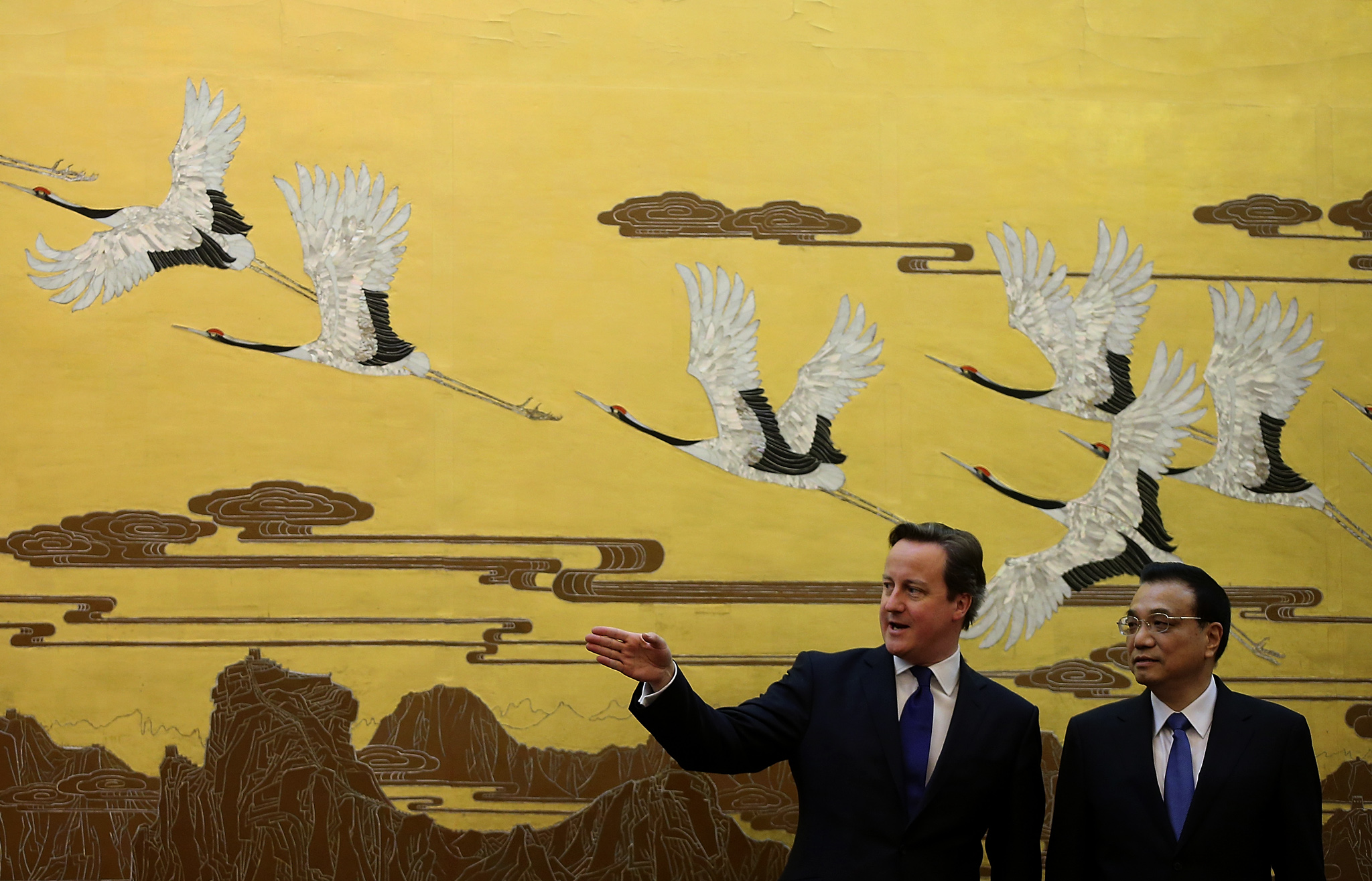 British Prime Minister David Cameron Visits China