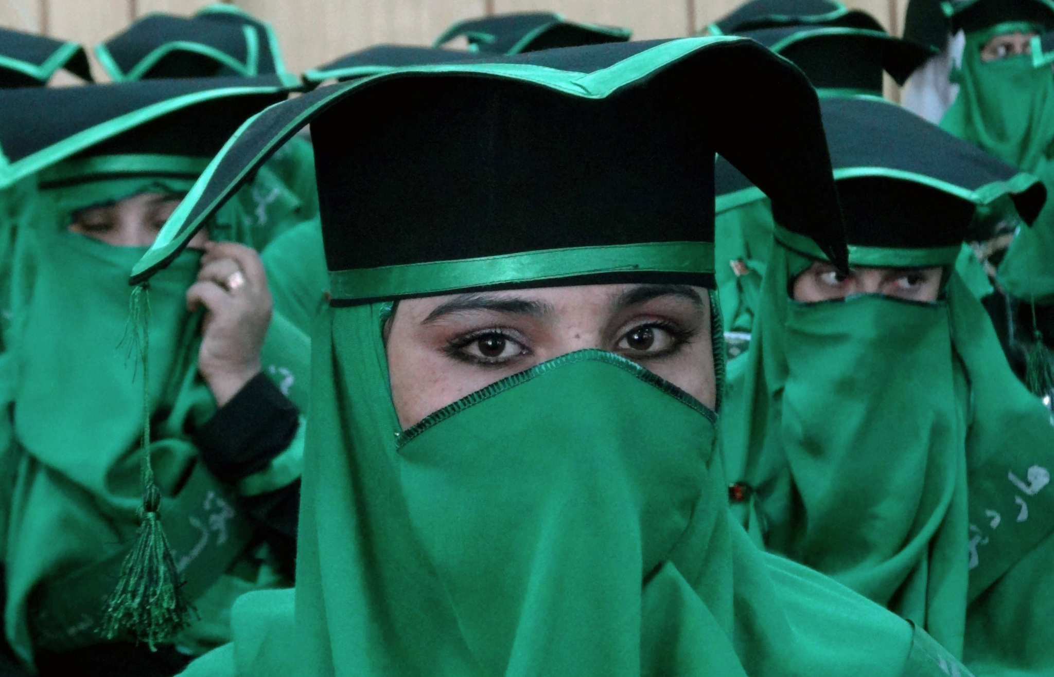 Newly-graduated Afghan midwives attend a commencement ceremony at the Governor's House in Jalalabad, Nangarhar province. Some 40 midwives graduated in the ceremony after undergoing a two and half year midwifery programme.