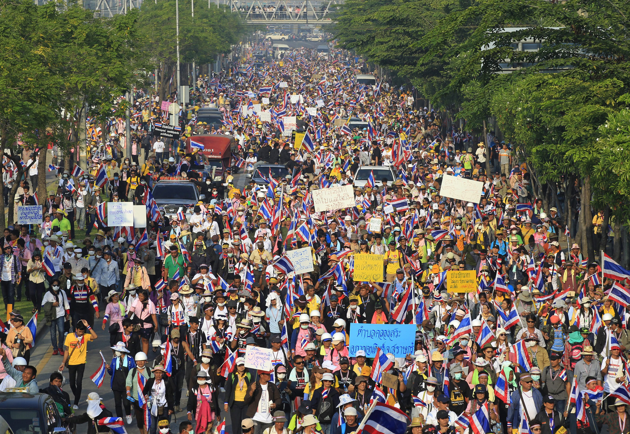 Anti government protests in Bangkok