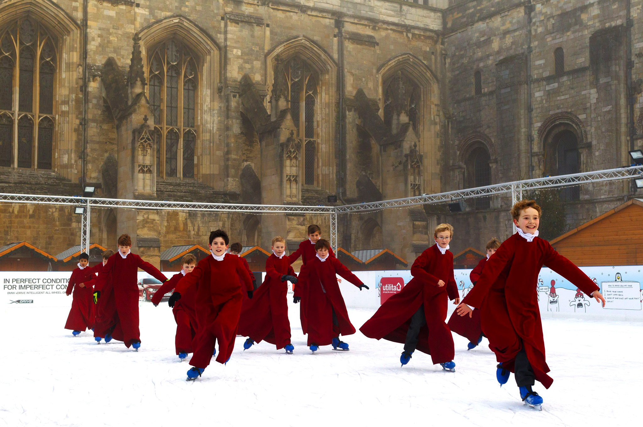 Winchester choristers ice skating
