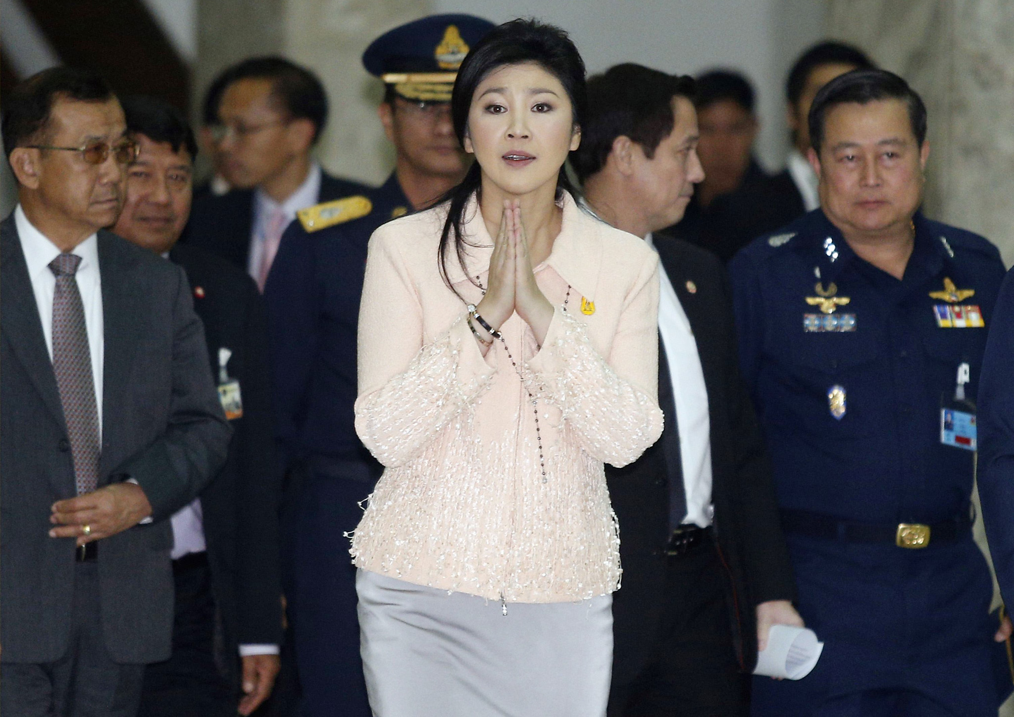 "REUTERS PICTURE HIGHLIGHT...ATTENTION EDITORS - REUTERS PICTURE HIGHLIGHT TRANSMITTED BY 1359 GMT ON JANUARY 21, 2014    PGB02RRR  Thailand's Prime Minister Yingluck Shinawatra gestures while speaking to reporters following following the declaration of a state of emergency in Bangkok.  REUTERS/Athit Perawongmetha      REUTERS NEWS PICTURES HAS NOW MADE IT EASIER TO FIND THE BEST PHOTOS FROM THE MOST IMPORTANT STORIES AND TOP STANDALONES EACH DAY. Search for ""TPX"" in the IPTC Supplemental Category field or ""IMAGES OF THE DAY"" in the Caption field and you will find a selection of 80-100 of our daily Top Pictures."