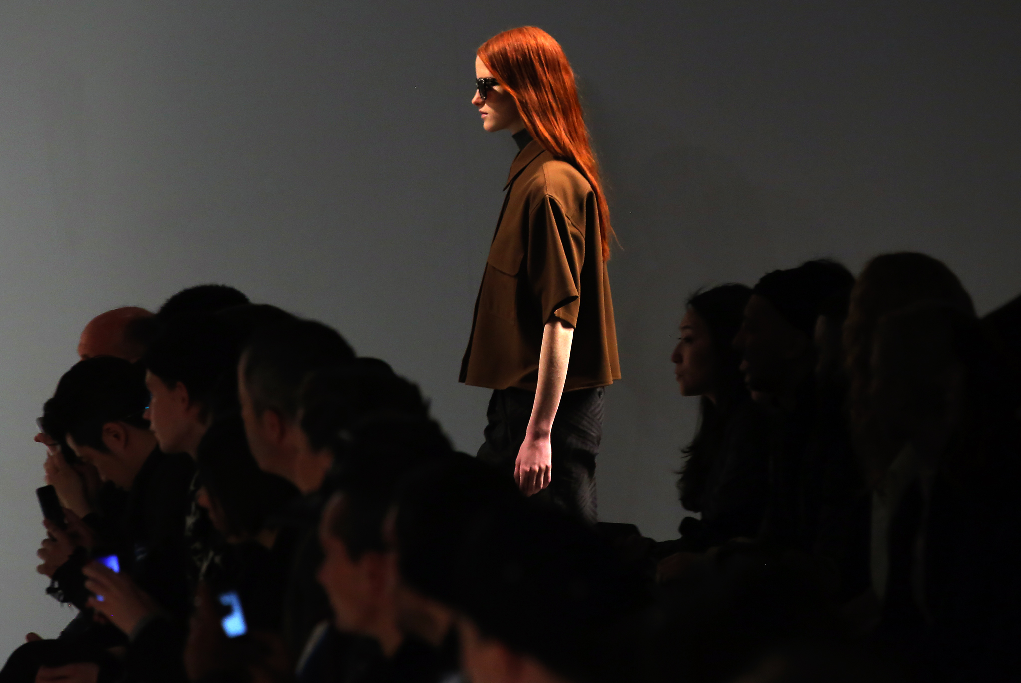 A model wears a creation for Damir Doma's ready to wear fall/winter 2014-2015 fashion collection presented in Paris.