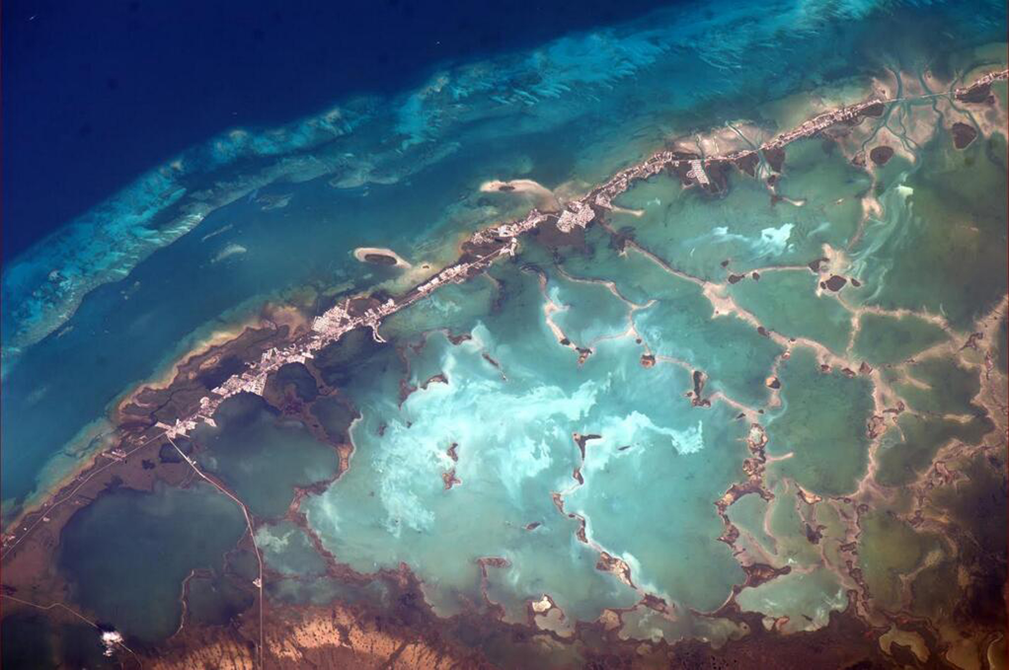 This image provided by NASA March 16, 2014 shows a portion of the Florida Keys taken by Astronaut Rick Mastracchio from the International Space Station. (AP Photo/NASA, Rich Mastracchio)