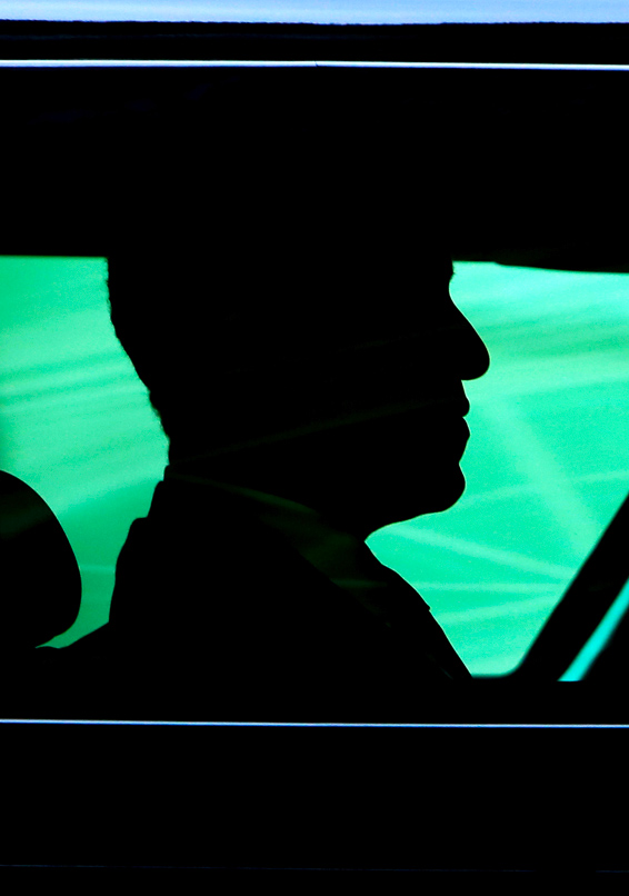 Pope Francis Meets President Obama...VATICAN CITY, VATICAN - MARCH 27:  The silhouette of US President Barack Obama is seen as he arrives in his car at the San Damaso courtyard for a meeting with Pope Francis on March 27, 2014 in Vatican City, Vatican. This is Obama's first audience with Pope Francis and it is the second time that he has been received at the Vatican, after an audience with Pope Benedict XVI on July 10, 2009. Barack Obama is the ninth US President to make an official visit to the Vatican. The first, Woodrow Wilson, received by Pope Benedict XV after the end of the First World War.  (Photo by Franco Origlia/Getty Images)