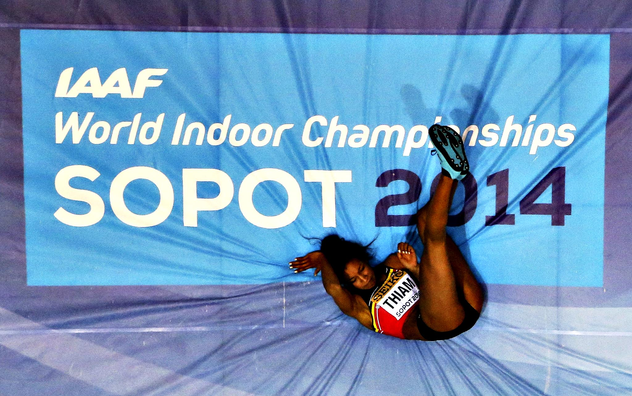 Belgium's Nafissatou Thiam competes in the women's high jump qualification during the world indoor athletics championships at the ERGO Arena in Sopot March 7, 2014.
