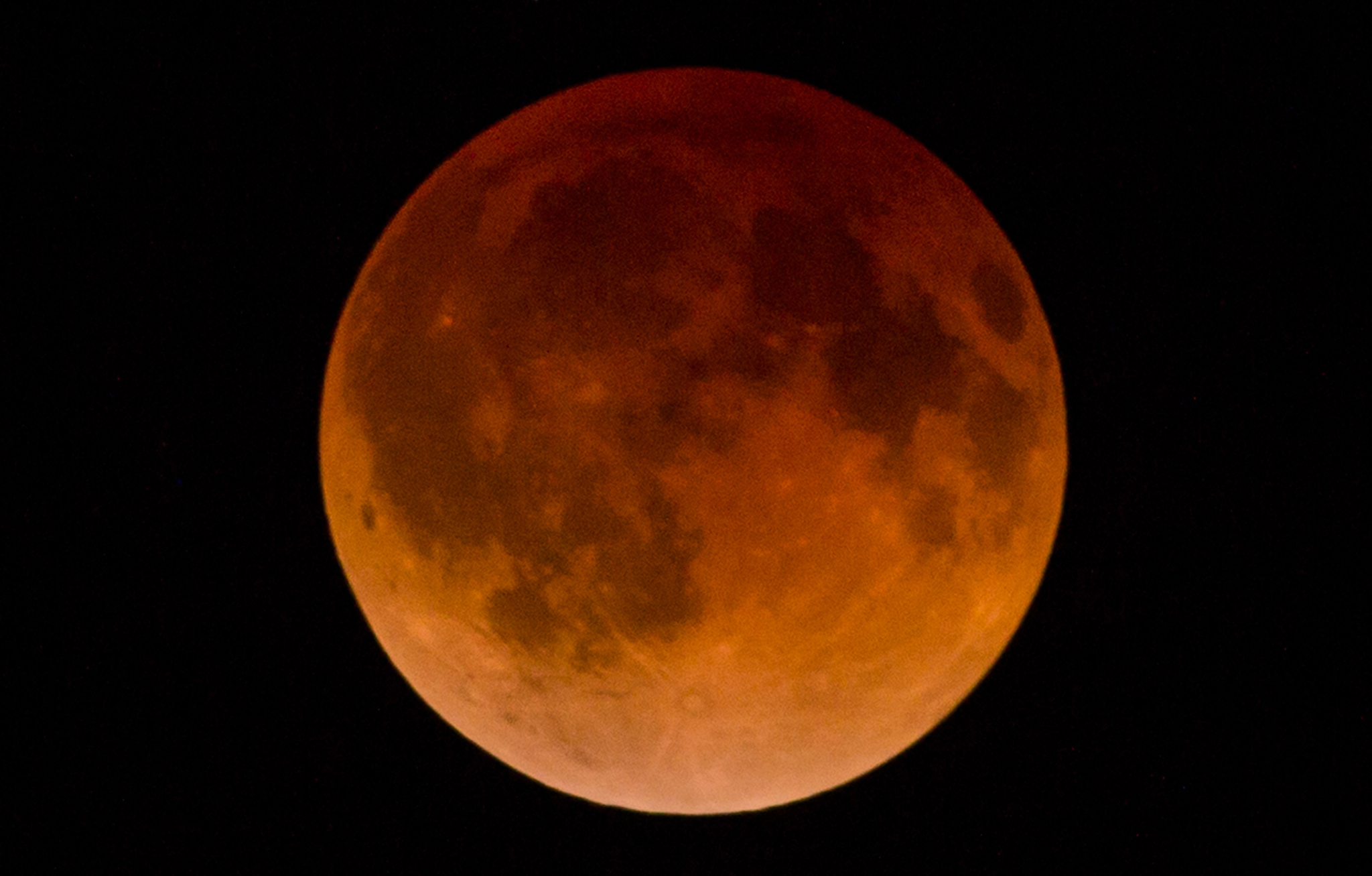 A total lunar eclipse takes place in the...A total lunar eclipse takes place in the sky over the Mexican city of Guadalajara early on April 15, 2014. The entire event was to be visible from North and South America, but sky watchers in northern and and eastern Europe, eastern Africa, the Middle East and Central Asia were out of luck, according to US space agency NASA.     AFP PHOTO / Hector GuerreroHECTOR GUERRERO/AFP/Getty Images