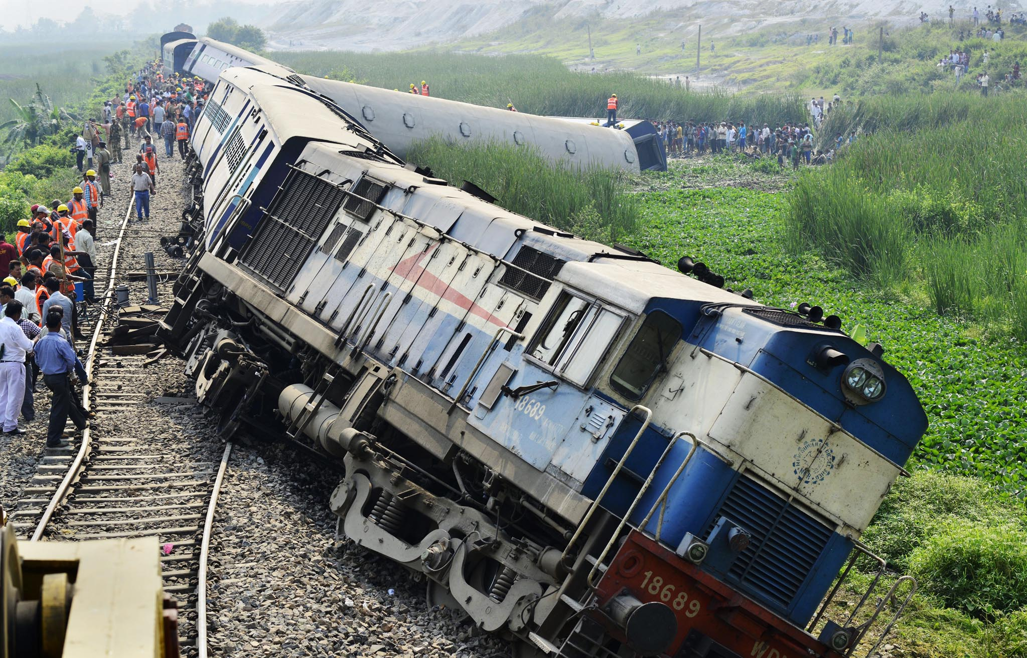Train derailment in India leaves 45 passengers injured