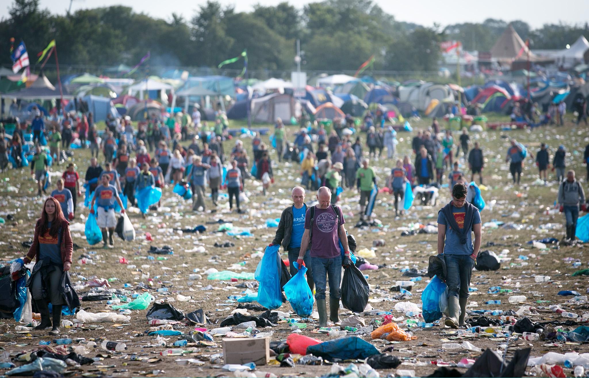 Festival Goers Enjoy Glastonbury 2014