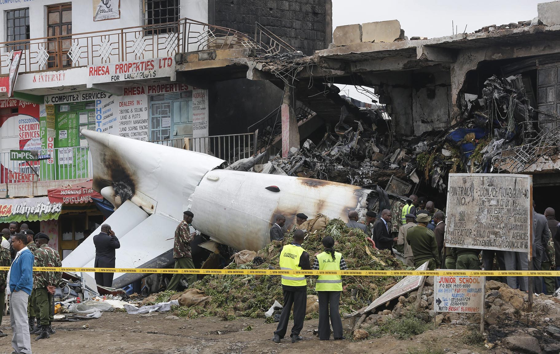 Cargo plane crashes in Kenya, all four occupants killed