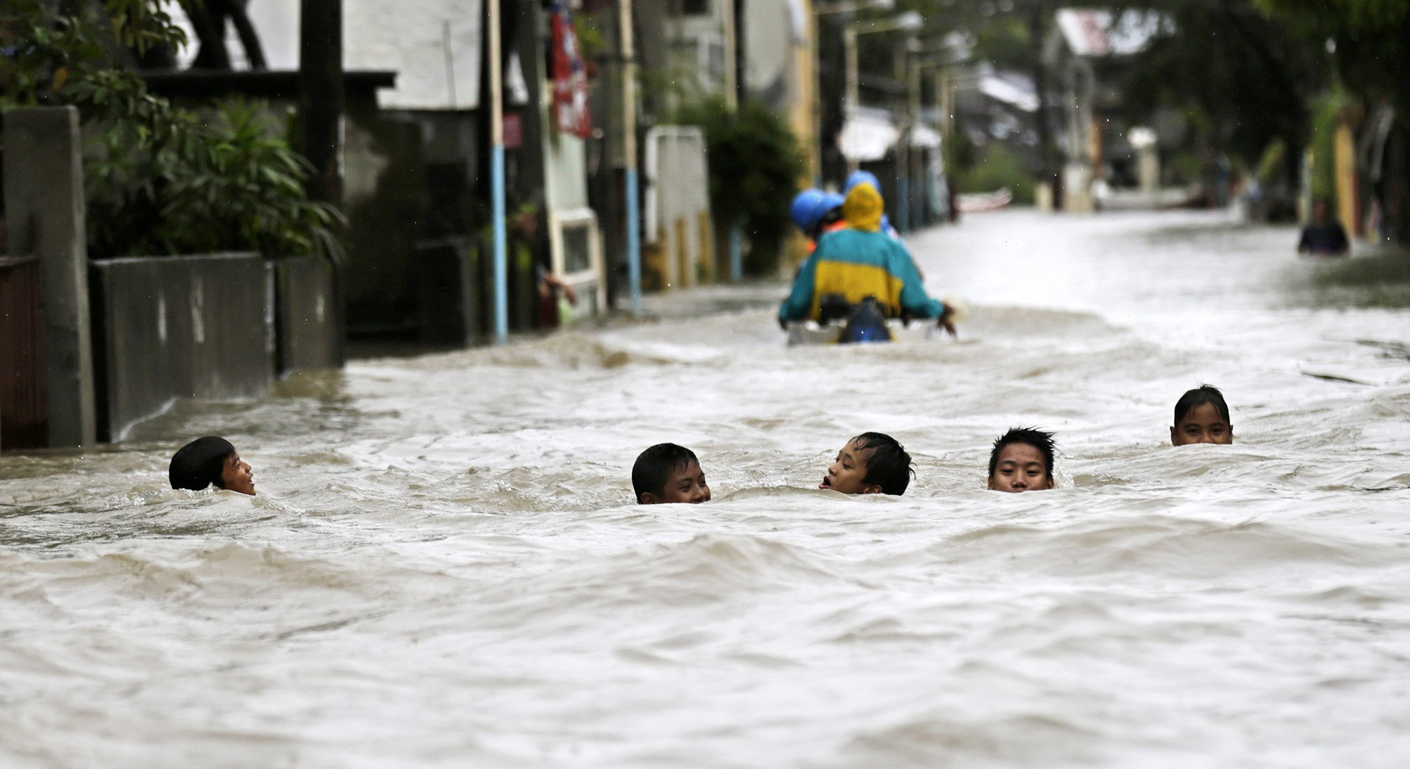Flood in Bataan province brought by Typhoon Halong.