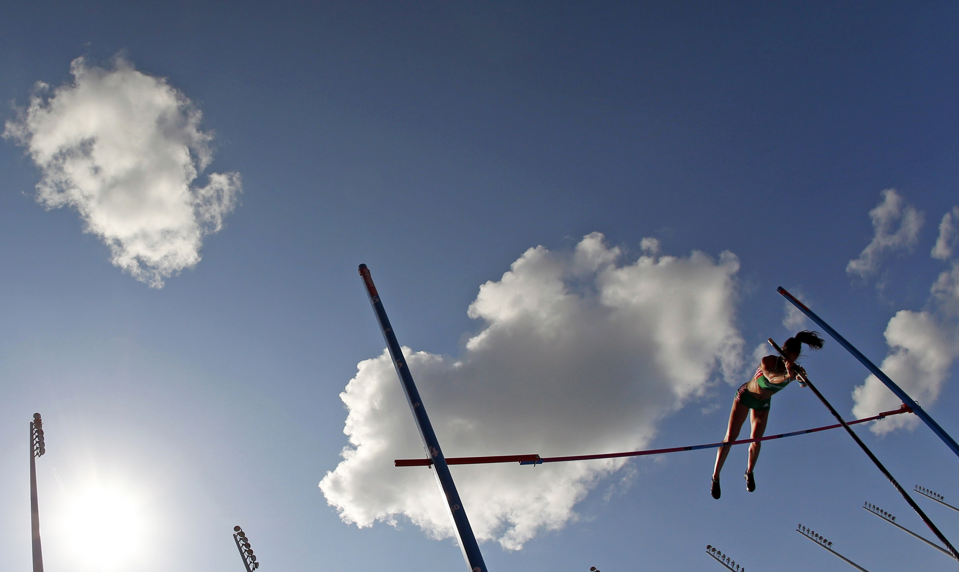 Onofre of Portugal competes in the women's pole vault qualifying rounds during the Zurich 2014 European Athletics Championships at the Letzigrund Stadium in Zurich