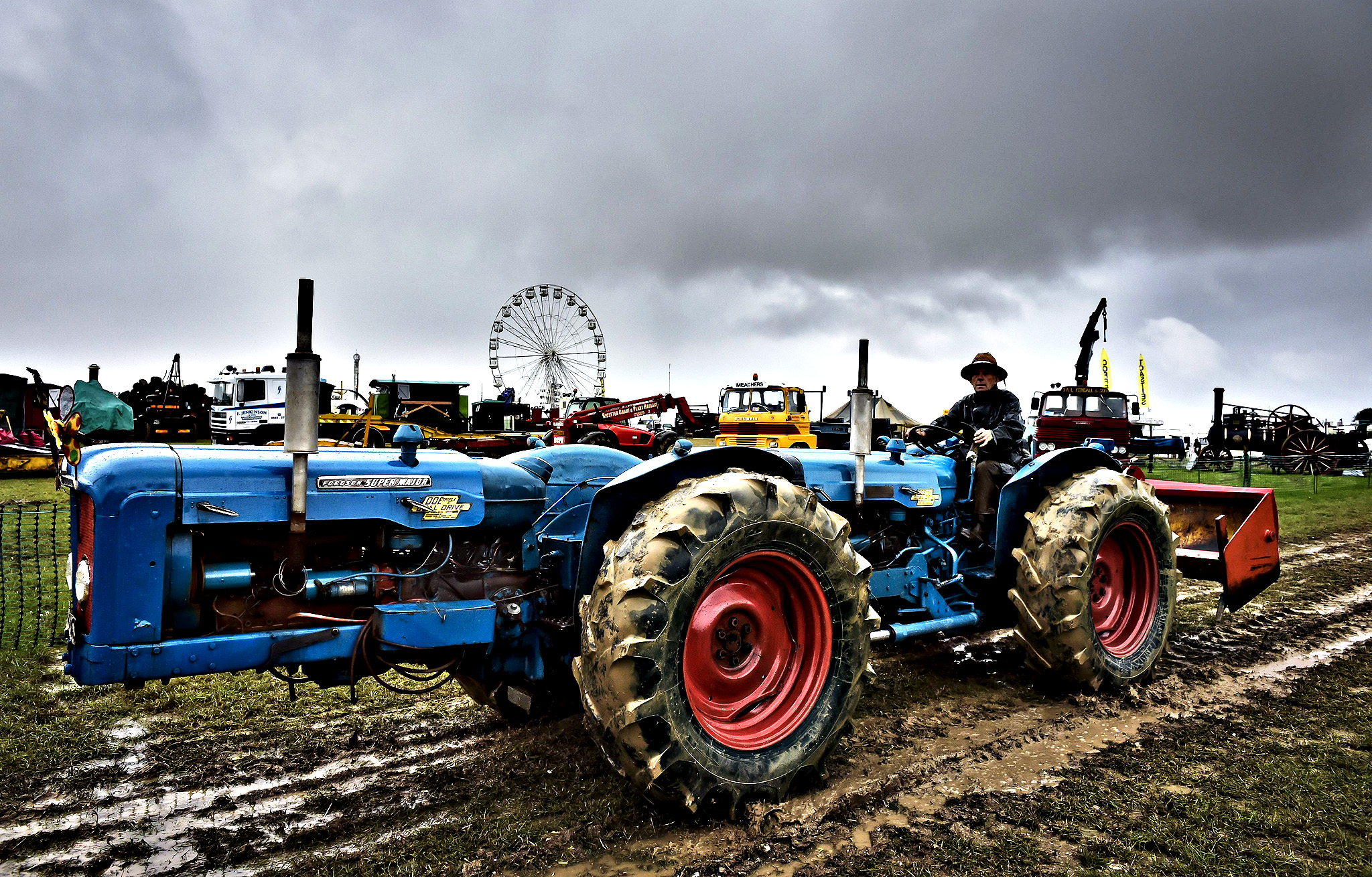 A double Fordson tractor at the Great Dorset Steam Fair, where hundreds of period steam traction engines and heavy mechanical equipment are being set up for the annual Dorset gathering of steam enthusiasts. PRESS ASSOCIATION Photo. Picture date: Tuesday August, 26, 2014.