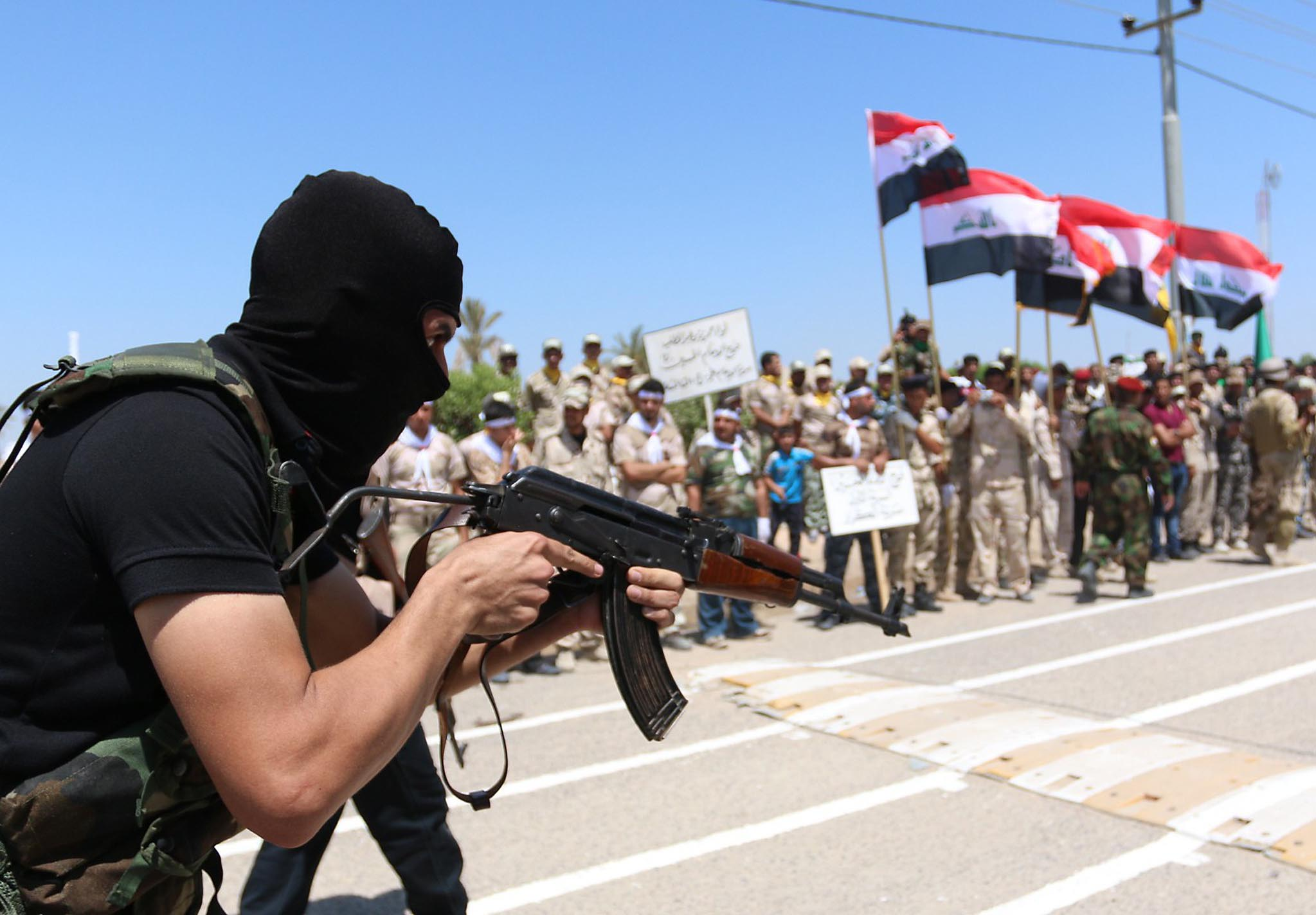 Iraqi Shiite volunteers who have joined