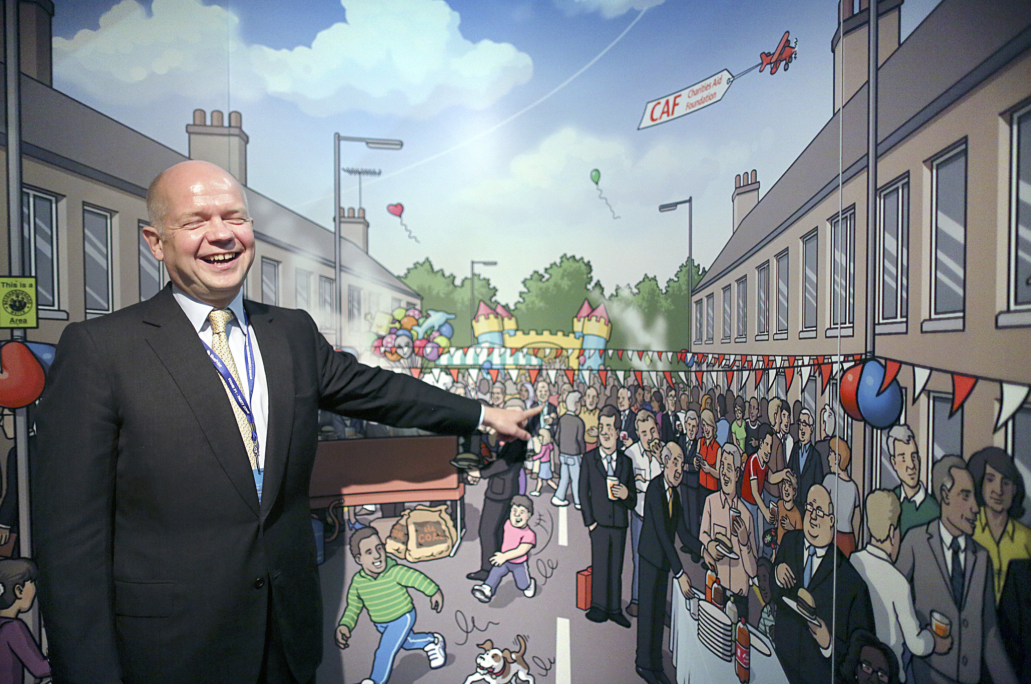 William Hague MP and his wife Ffion take a tour of the stands at the Conservative party conference in Birmingham this morning.