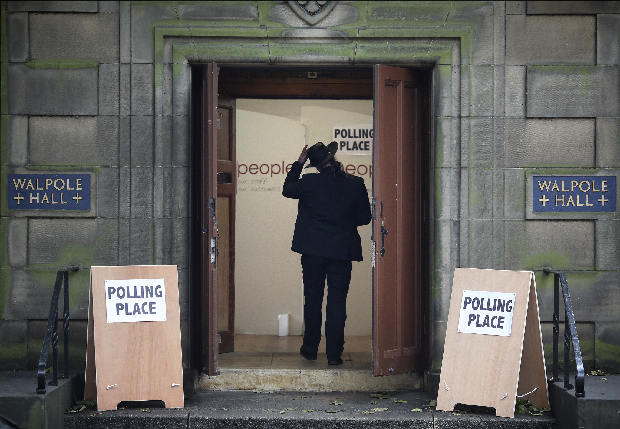 A polling place at the Walpole hall, St Mary's Cathederal, Edinburgh Scotland as the nation votes in the referendum.