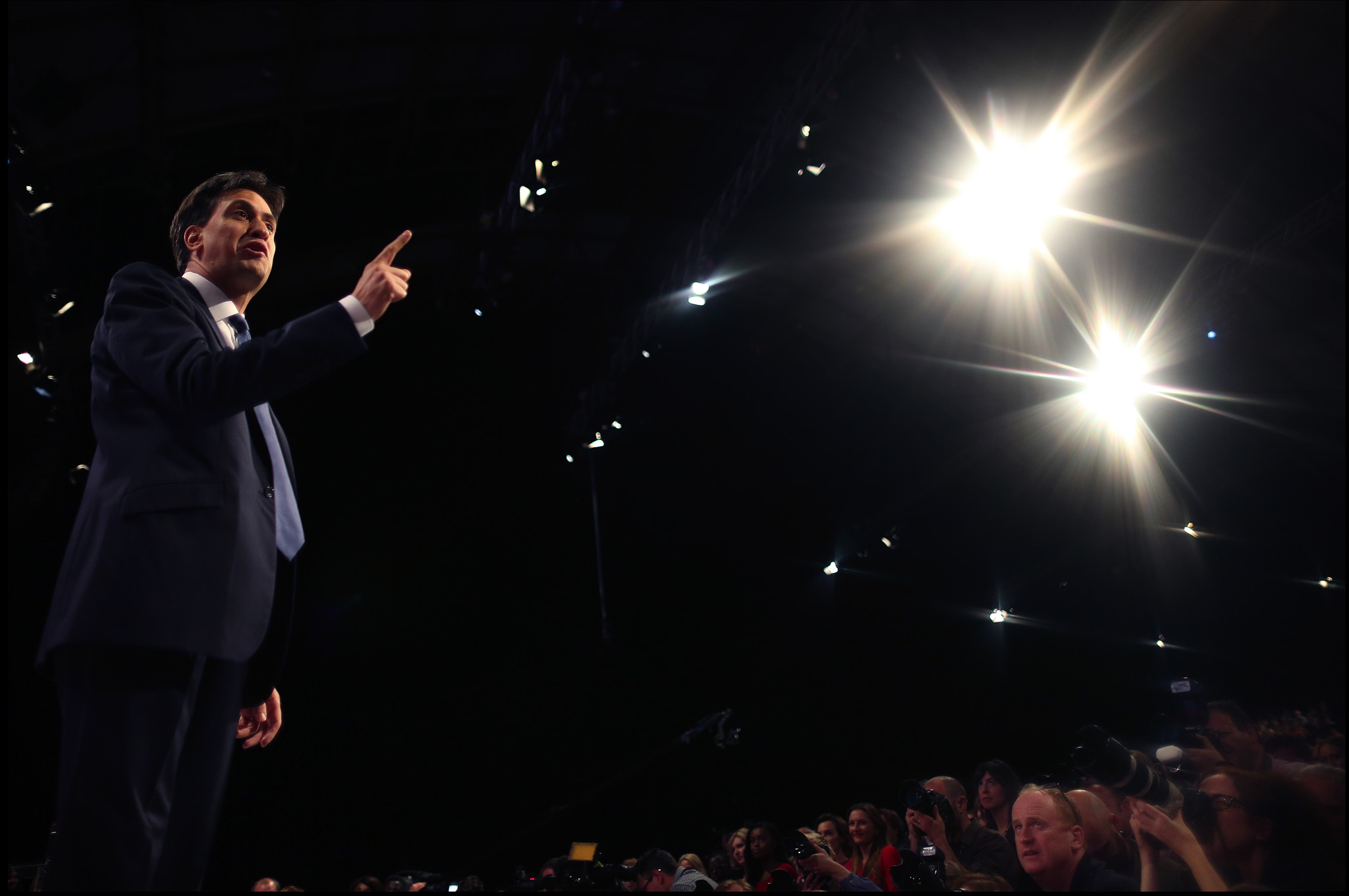 Ed Miliband, Leader of the Labour party, delivers his keynote speech at the Labour party conference in Manchester.