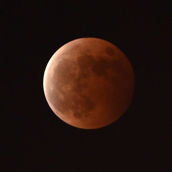 This photo taken on October 8, 2014 show...This photo taken on October 8, 2014 shows a blood moon during a total lunar eclipse in Hefei, east China's Anhui province. The total lunar eclipse is the second of two in 2014 and the second in a tetrad (four total lunar eclipses in series). CHINA OUT     AFP PHOTOSTR/AFP/Getty Images