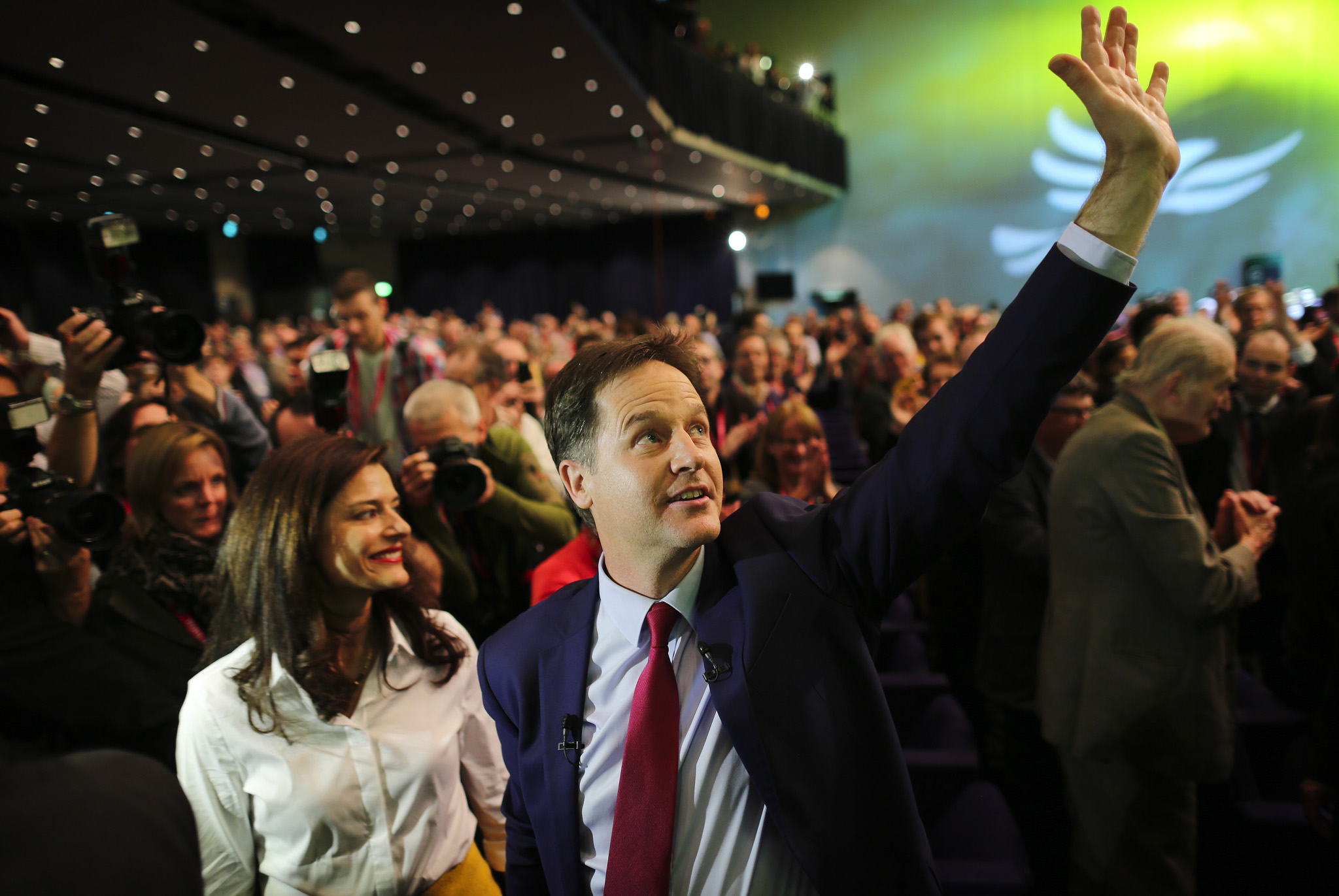 Leader of the Liberal Democrats, Nick Clegg, says farewell to the Democrat conference in Glasgow.