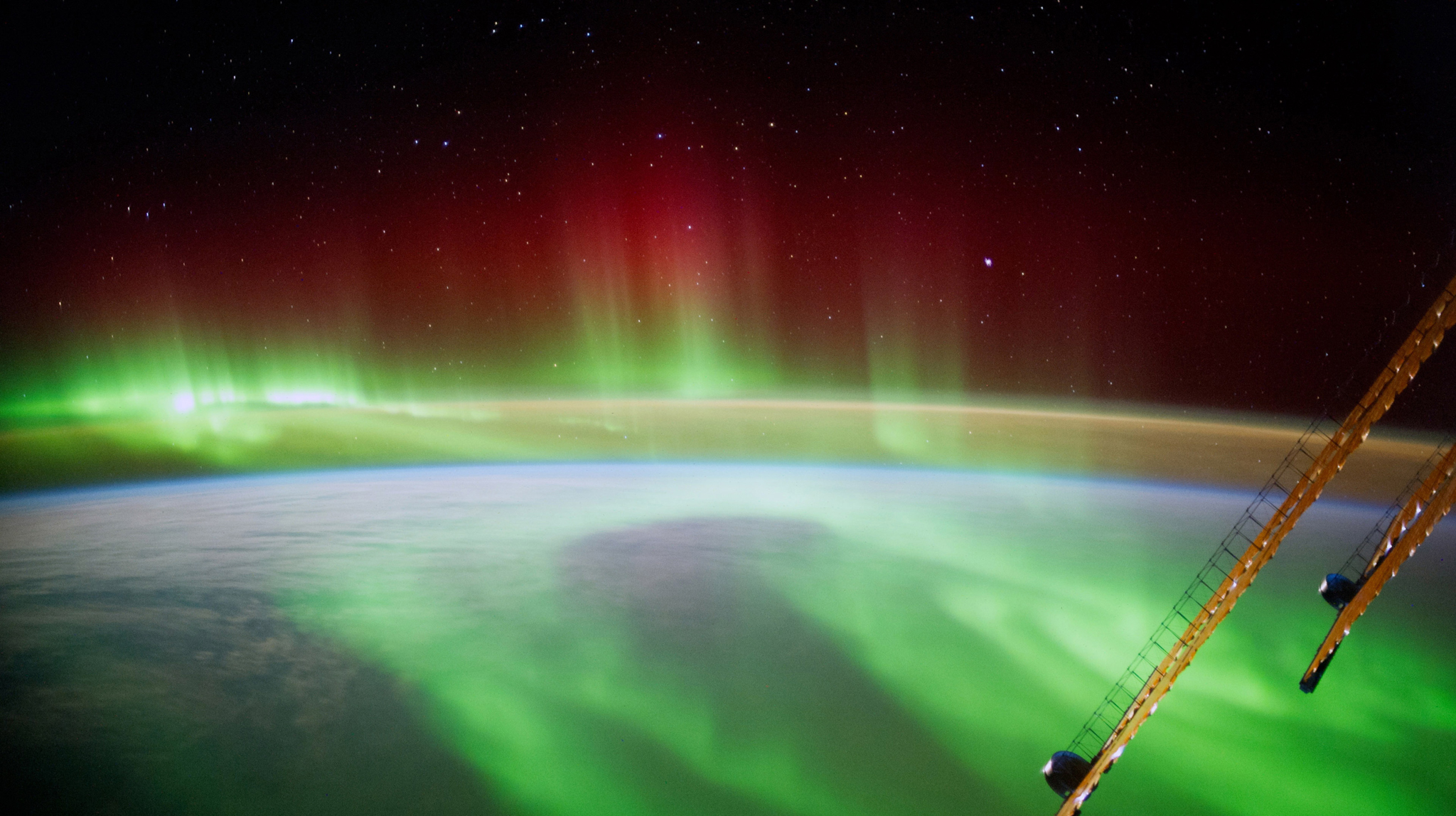 German Astronaut Alexander Gerst Aboard The International Space Station...IN SPACE - SEPTEMBER 9: (EDITORIAL USE ONLY) In this handout photo provided by the European Space Agency (ESA) on September 9, 2014, German ESA astronaut Alexander Gerst took this image of an aurora as he circled Earth whilst aboard the International Space Station (ISS). Gerst returned to earth on November 10, 2014 after spending six months on the International Space Station completing an extensive scientific programme, known as the 'Blue Dot' mission (after astronomer Carl Sagan's description of Earth, as seen on a photograph taken by the Voyager probe from six billion kilometres away). (Photo by Alexander Gerst / ESA via Getty Images)
