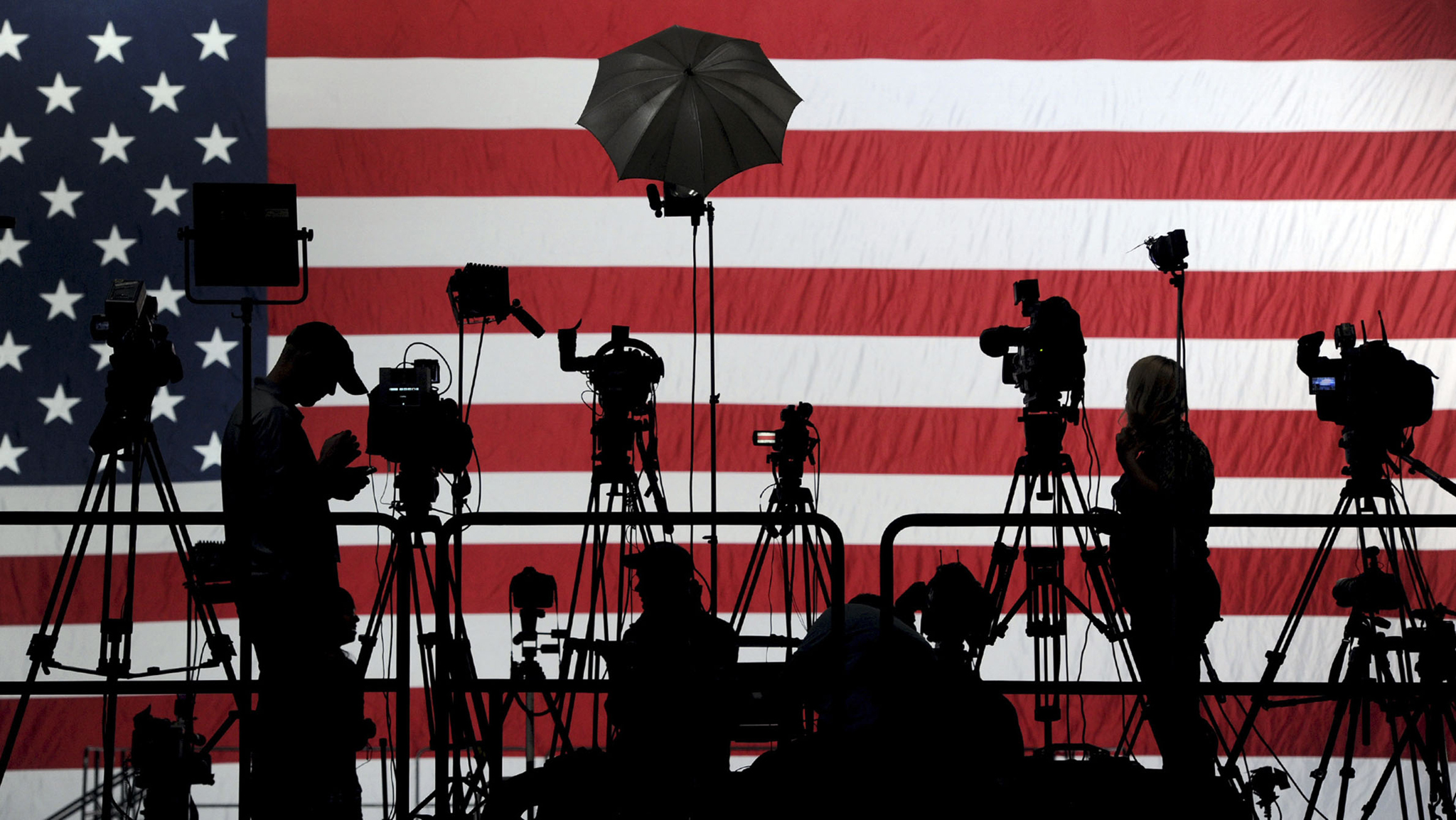 Election...The media sets up on the risers before Democrat Tom Wolf's rally in the Utz Arena of the York Expo Center in York, Pa. on Tuesday, Nov. 4, 2014. (AP Photo/York Daily Record, Jason Plotkin)