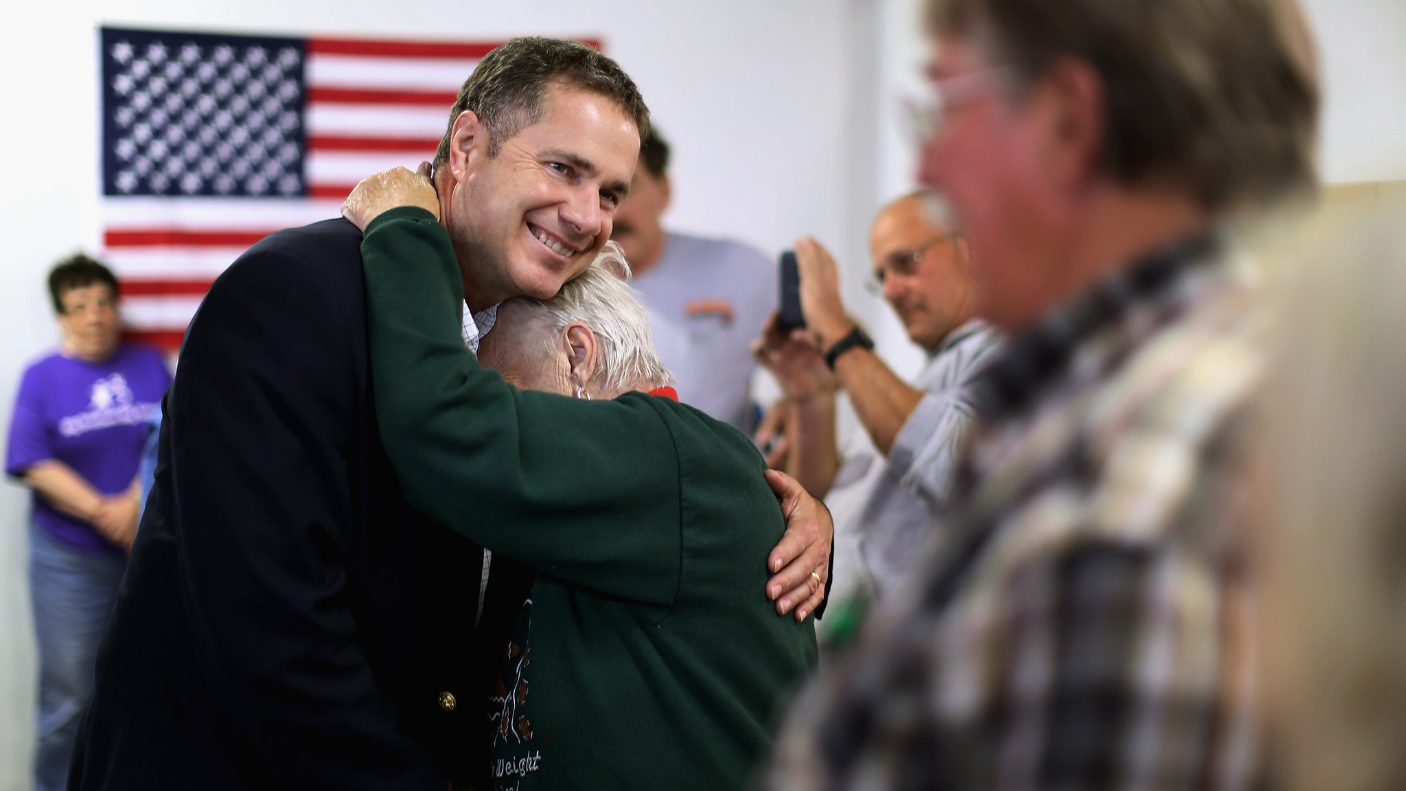 Iowa Senate Candidate Bruce Braley Campaigns Ahead Of Midterm Elections
