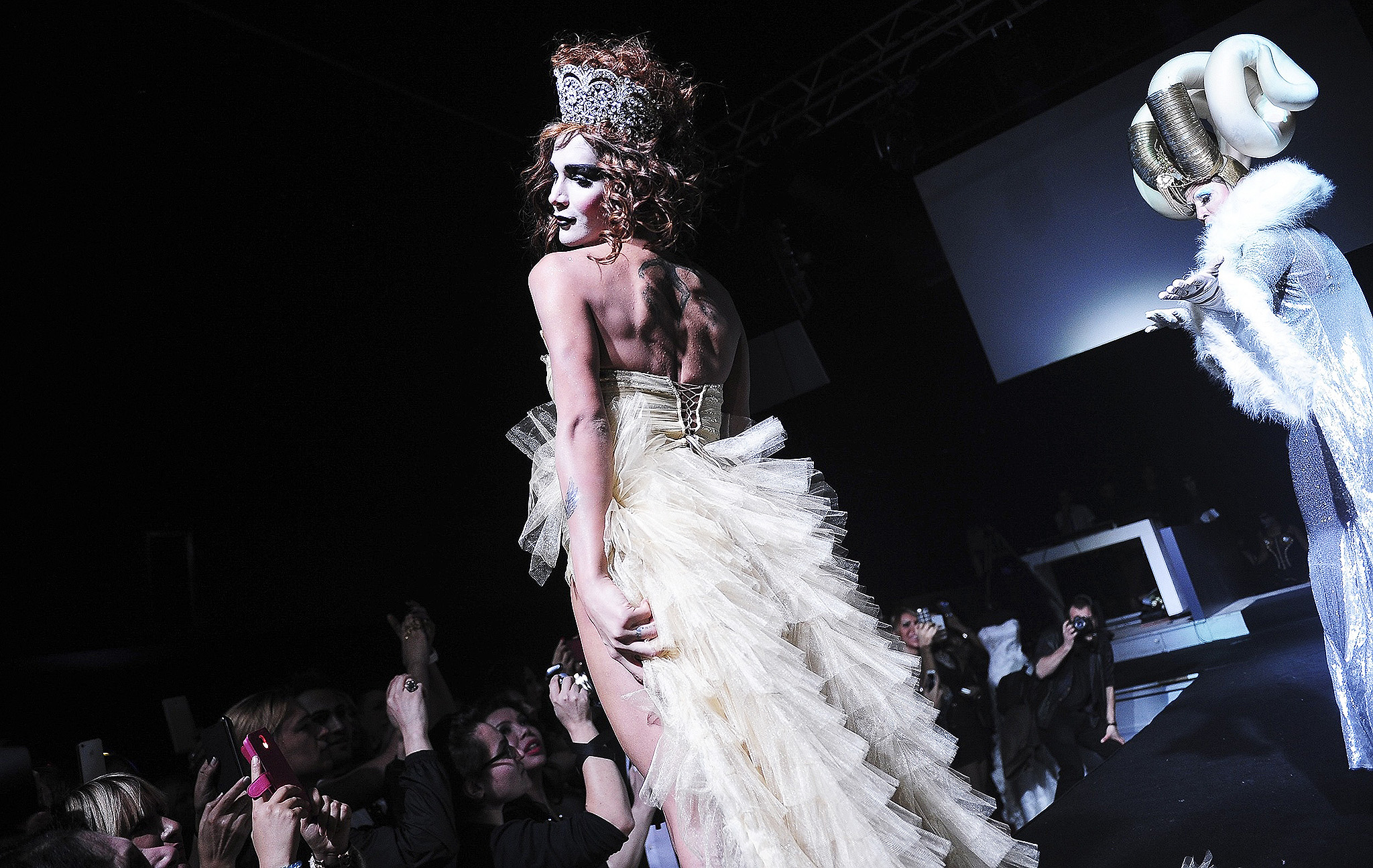 Participants present creations during the country's first ever transgender/transsexual fashion show in Istanbul. The fashion show was organized by Istanbul's LGBTI (lesbian, gay, bisexual, transgender, intersex) community to raise funds to improve the facilities of a local LGBTI shelter.