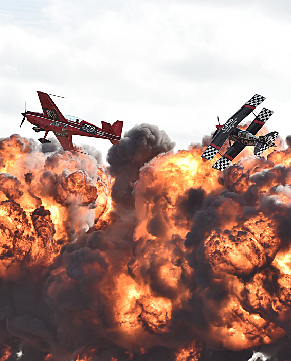 Acrobatic pilots perform at the Australi...Acrobatic pilots perform at the Australian International Airshow at the Avalon Airfield in the city of Lara, southwest of Melbourne on February 24, 2015. Some 180,000 patrons were expected through the gates over the duration of the event.   AFP PHOTO / Paul CROCKPAUL CROCK/AFP/Getty Images