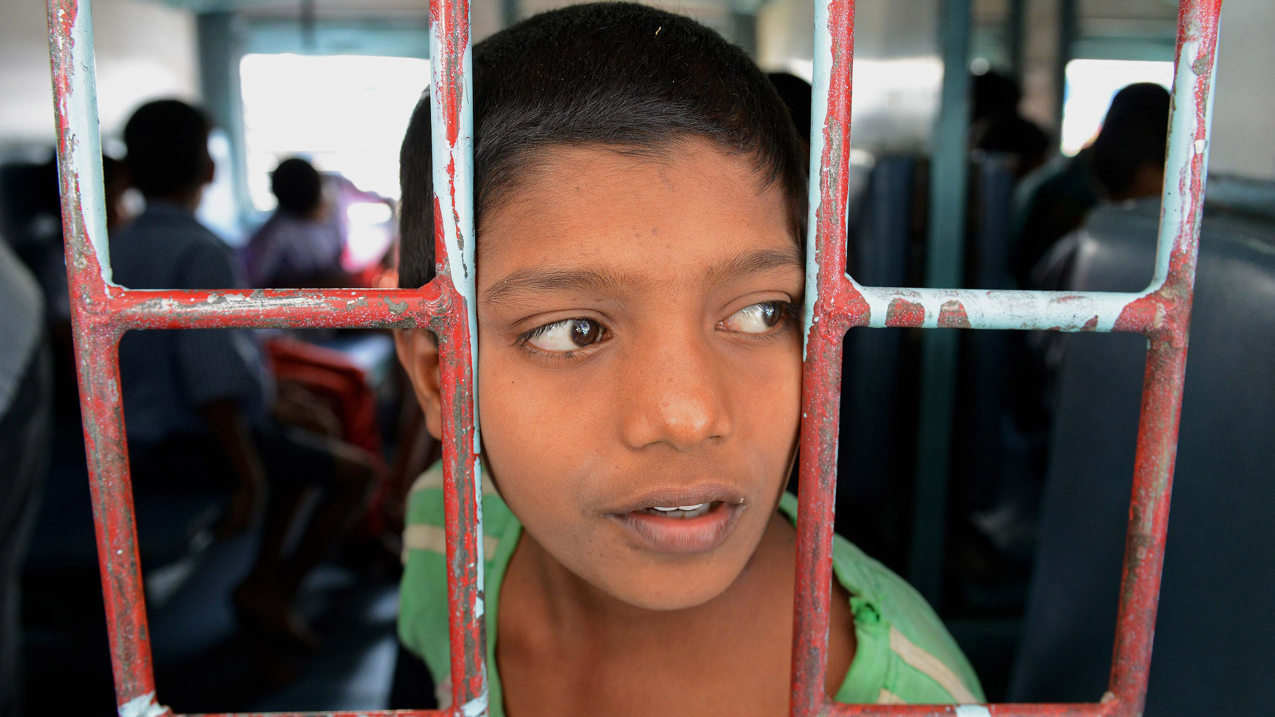 A rescued Indian child labourer
