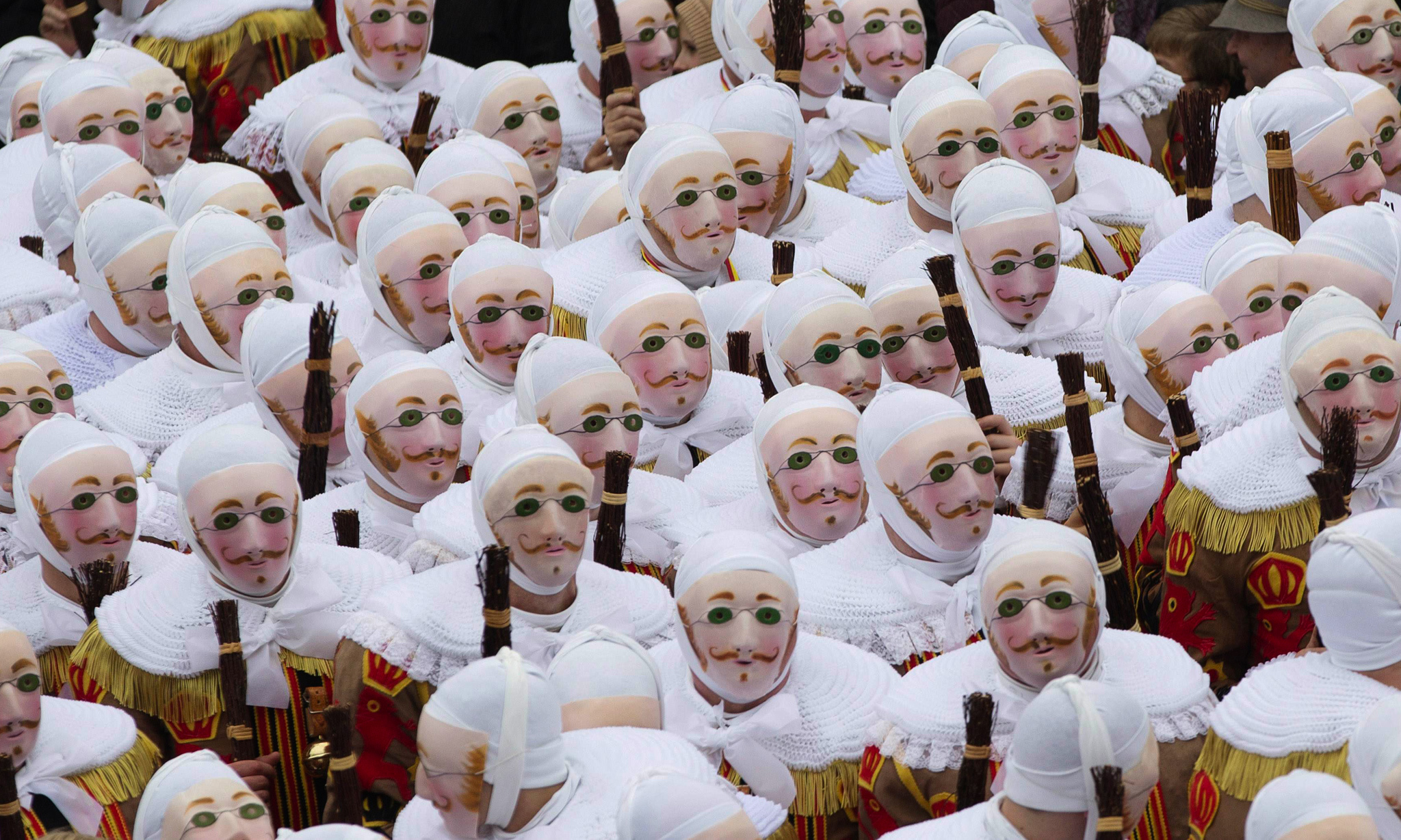 Gilles of Binche parade, a UNESCO World Heritage event, is the biggest and the liveliest annual carnival in Belgium.