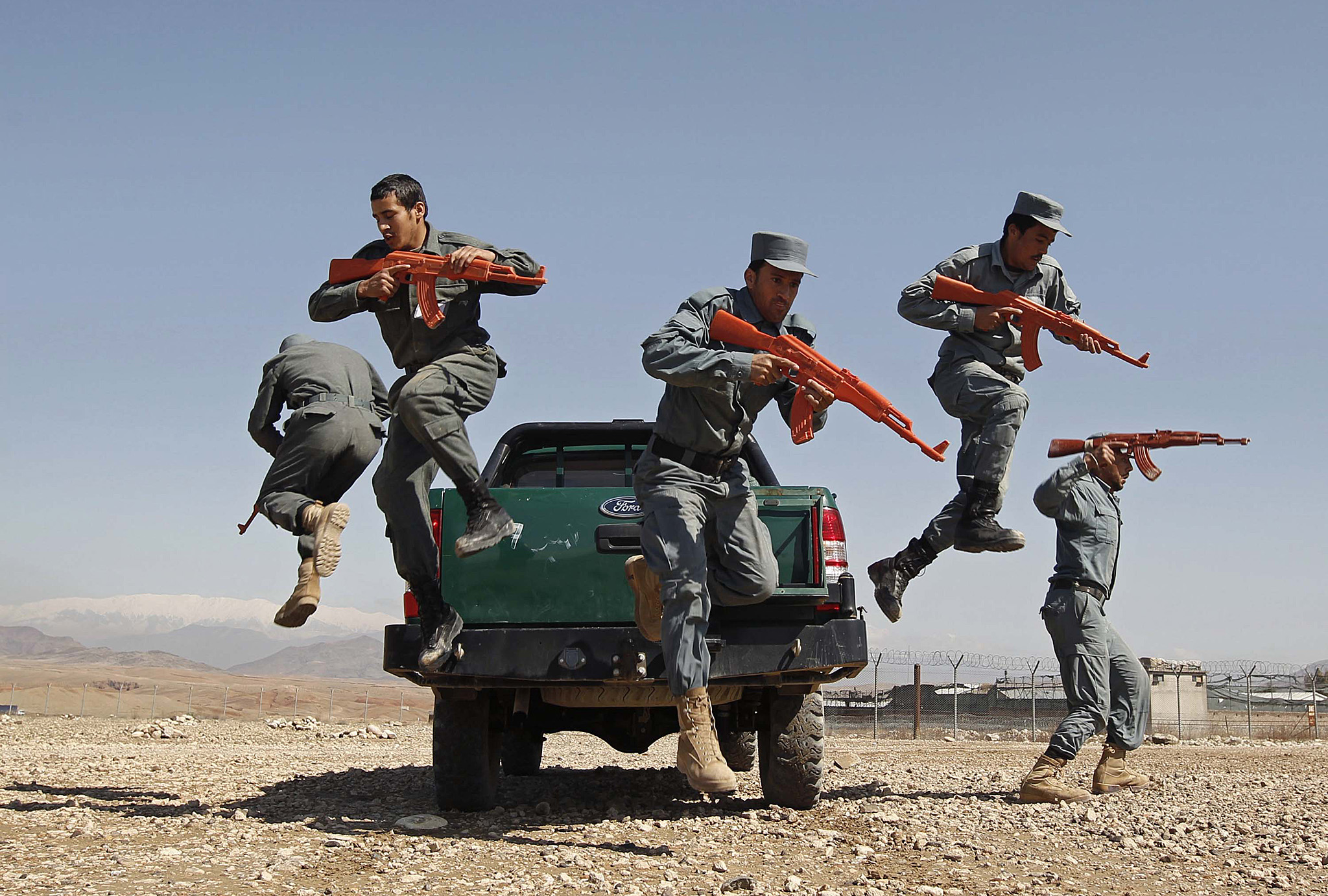 "REUTERS PICTURE HIGHLIGHT...ATTENTION EDITORS - REUTERS PICTURE HIGHLIGHT TRANSMITTED BY 1419 GMT ON MARCH 9, 2015    KAB01  Afghan policemen display their skills at a police training centre in Nangarhar Province March 9, 2015.   REUTERS/Parwiz     REUTERS NEWS PICTURES HAS NOW MADE IT EASIER TO FIND THE BEST PHOTOS FROM THE MOST IMPORTANT STORIES AND TOP STANDALONES EACH DAY. Search for ""TPX"" in the IPTC Supplemental Category field or ""IMAGES OF THE DAY"" in the Caption field and you will find a selection of 80-100 of our daily Top Pictures.    REUTERS NEWS PICTURES.     TEMPLATE OUT"