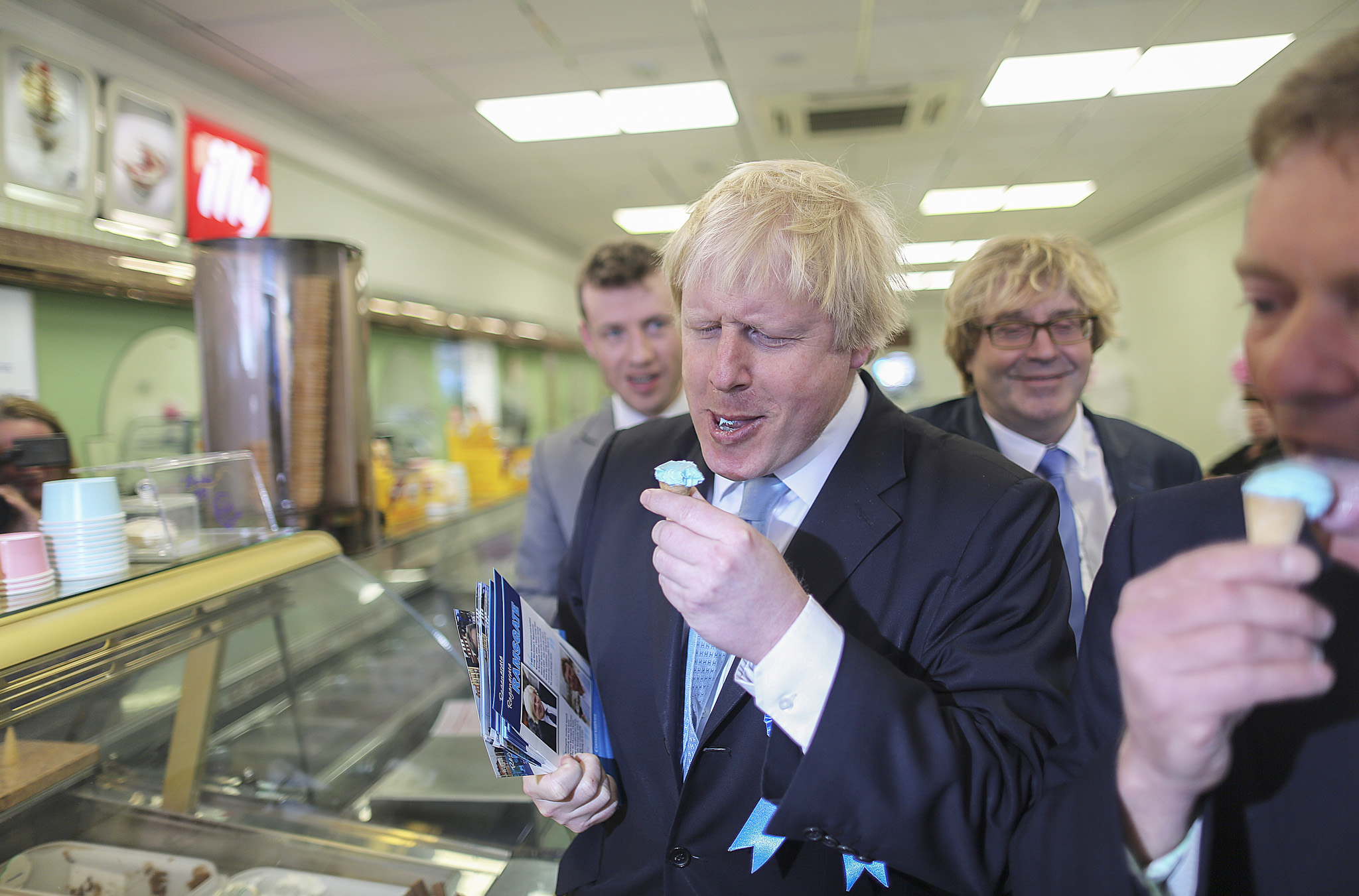 Boris Johnson today campaigned in Ramsgate, in the Thanet South constituency on behalf of Conservative candidate, Criag McKinlay.