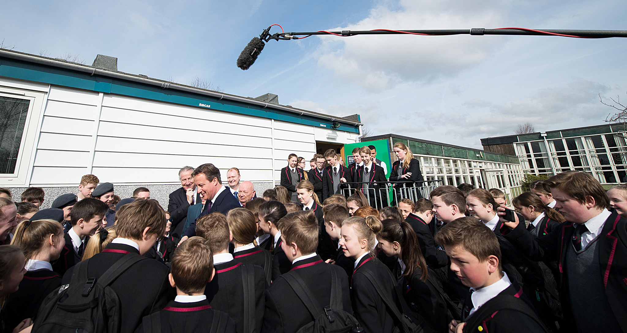 British Prime Minister and leader of the...British Prime Minister and leader of the Conservative Party, David Cameron, talks with pupils during a general election campaign visit to the Kings Leadership Academy in Warrington, northwest England, on April 2, 2015. Cameron and opposition leader Ed Miliband face their one and only live television debate of the election campaign on April 2, along with five others in a seven-way contest.  AFP PHOTO / POOL / LEON NEALLEON NEAL/AFP/Getty Images