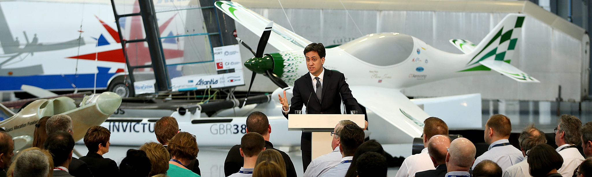 Labour Leader Ed Miliband Campaigns During The Second Week Of The General Election...BRISTOL, UNITED KINGDOM - APRIL 07:  Labour leader Ed Miliband conducts a workplace Q&A session at the NCC, National Composite Centre on April 7, 2015 in Bristol, United Kingdom. Britain goes to the polls for a general election on May 7.  (Photo by Dan Kitwood/Getty Images)