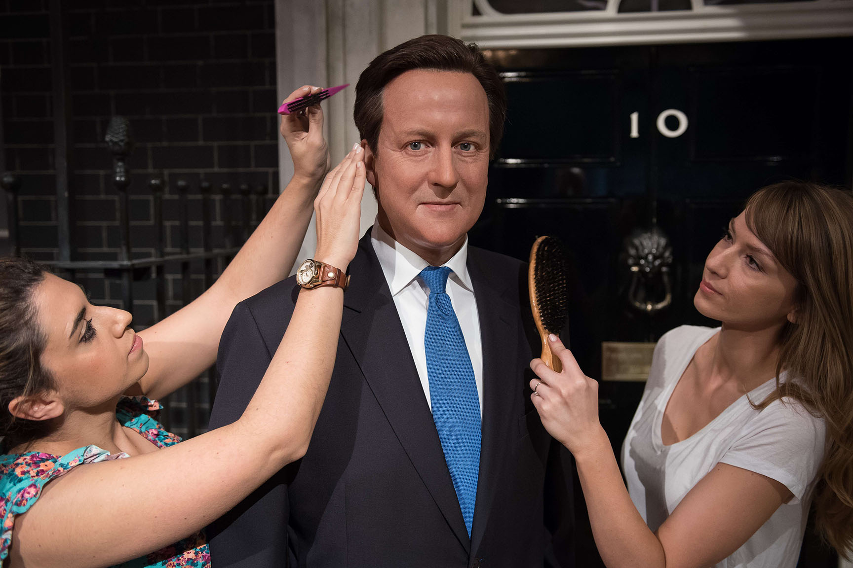 wax figure of British Prime Minister David Cameron