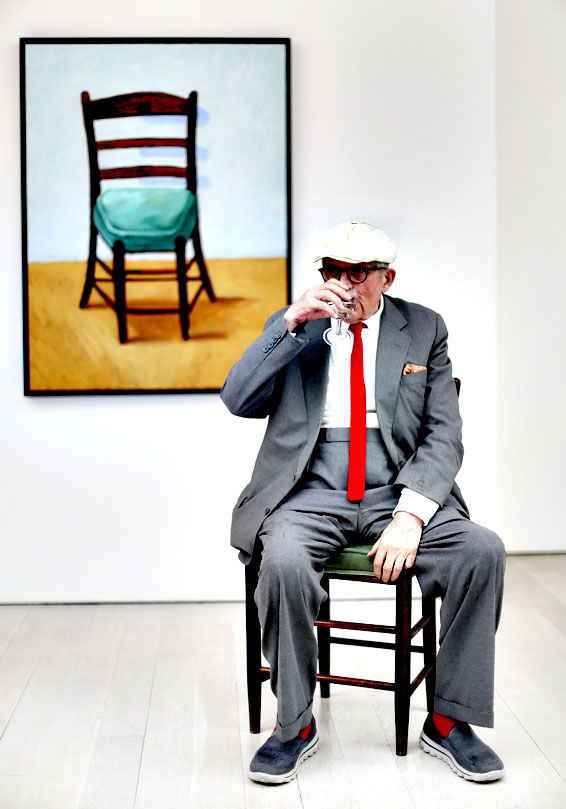 David Hockney presents his new body of work at the Annely Juda gallery, Mayfiar, London