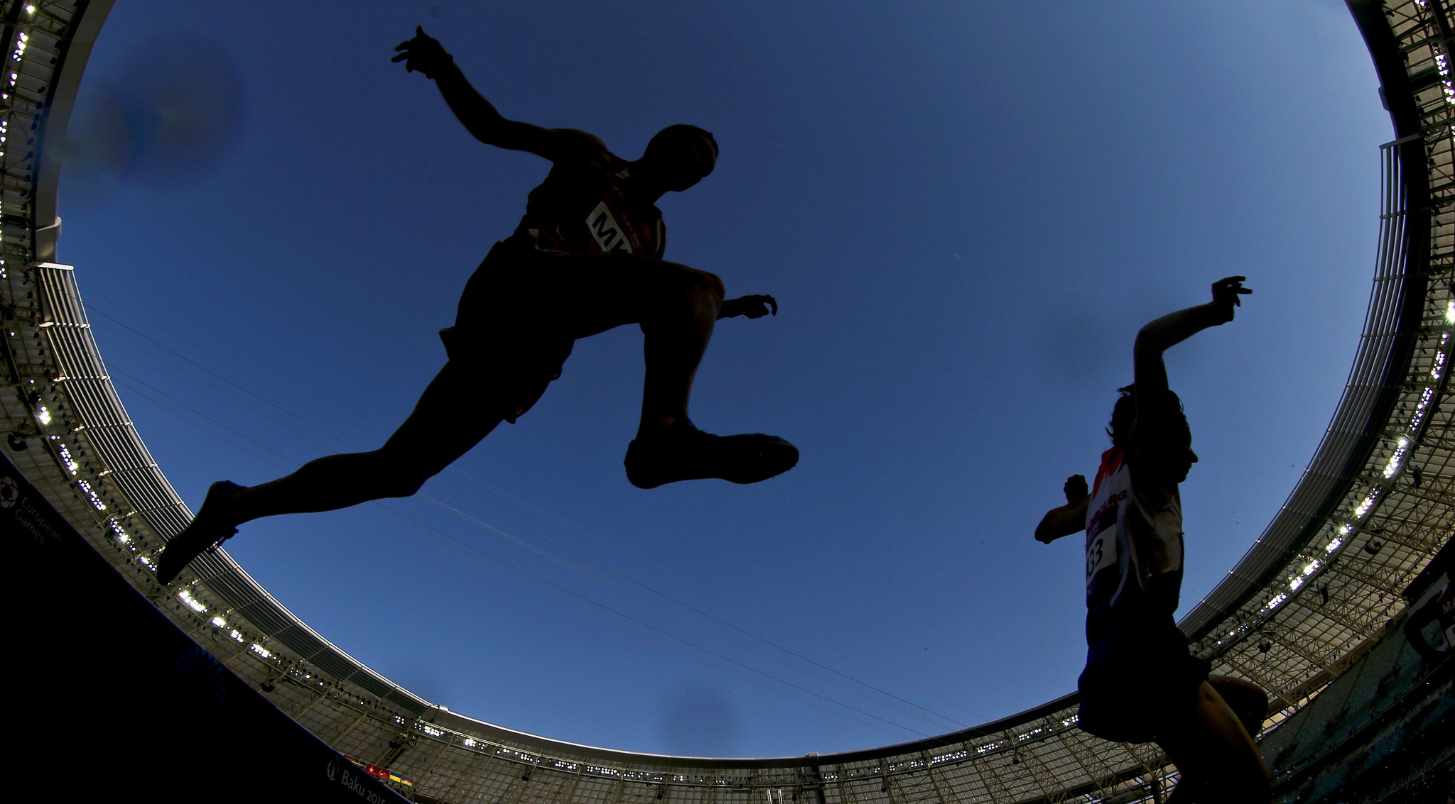 Athletes compete in the men's 3000 meters steeplechase race during the atheltics events at the 1st European Games in Baku...Athletes compete in the men's 3000 meters steeplechase race during the atheltics events at the 1st European Games in Baku, Azerbaijan, June 22 , 2015.  REUTERS/Stoyan Nenov