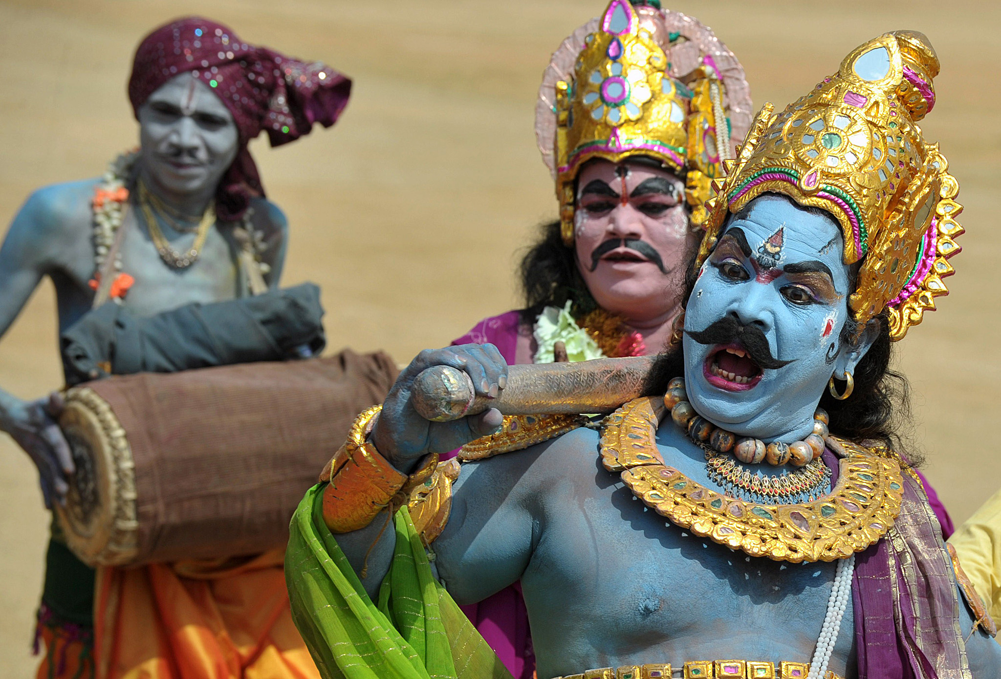 Indian performers dance during the state...Indian performers dance during the state's formation day celebrations, marking one year since the formation of the new state in Secunderabad, the twin city of Hyderabad, on June 2, 2015.The 10 districts of the southern Indian state of Telangana was formed as India's 29th state on June 2, 2014 after it was carved out of Andhra Pradesh. AFP PHOTO/ Noah SEELAMNOAH SEELAM/AFP/Getty Images
