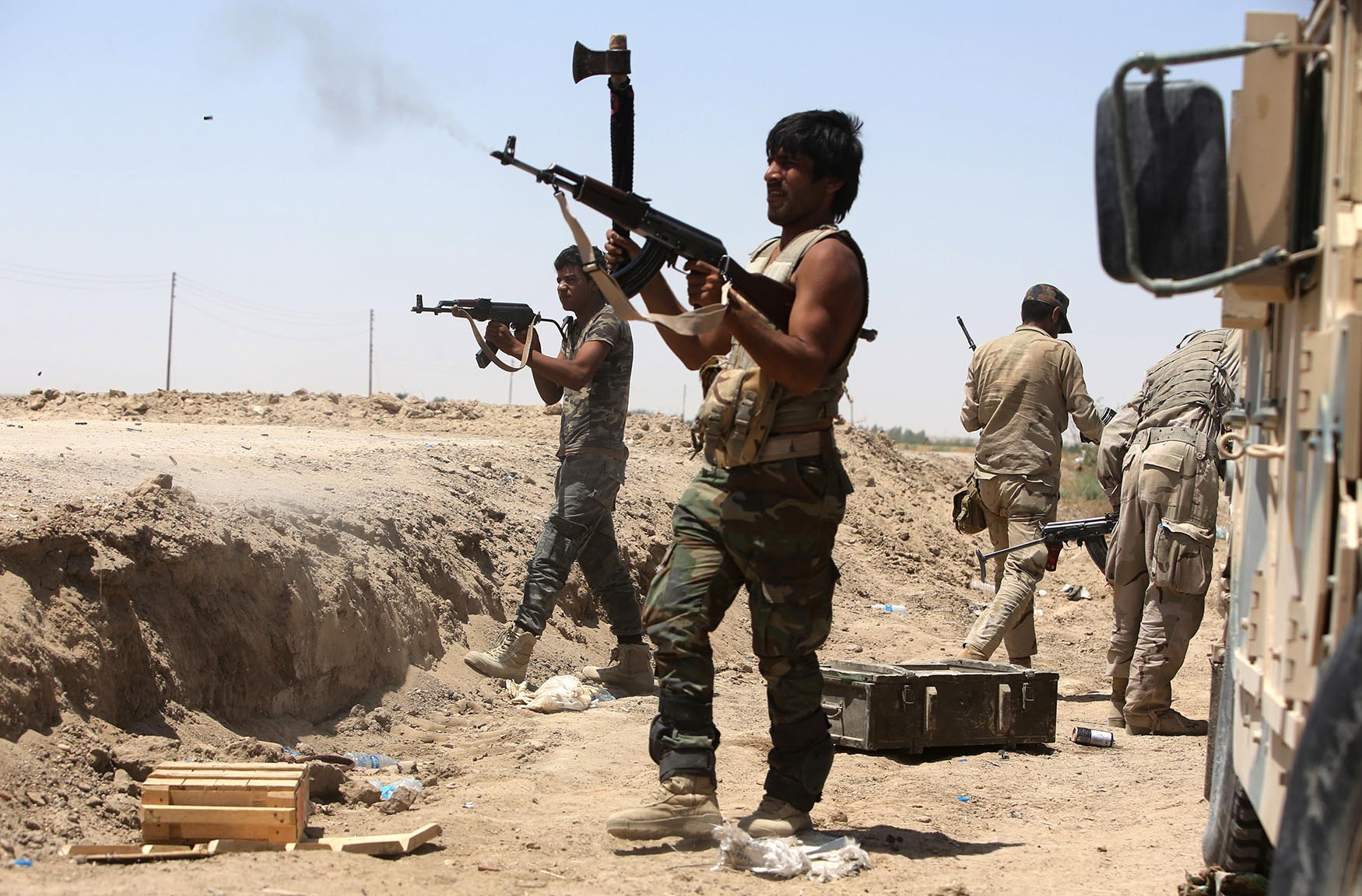 Iraqi Shiite fighters from the Popular Mobilisation units