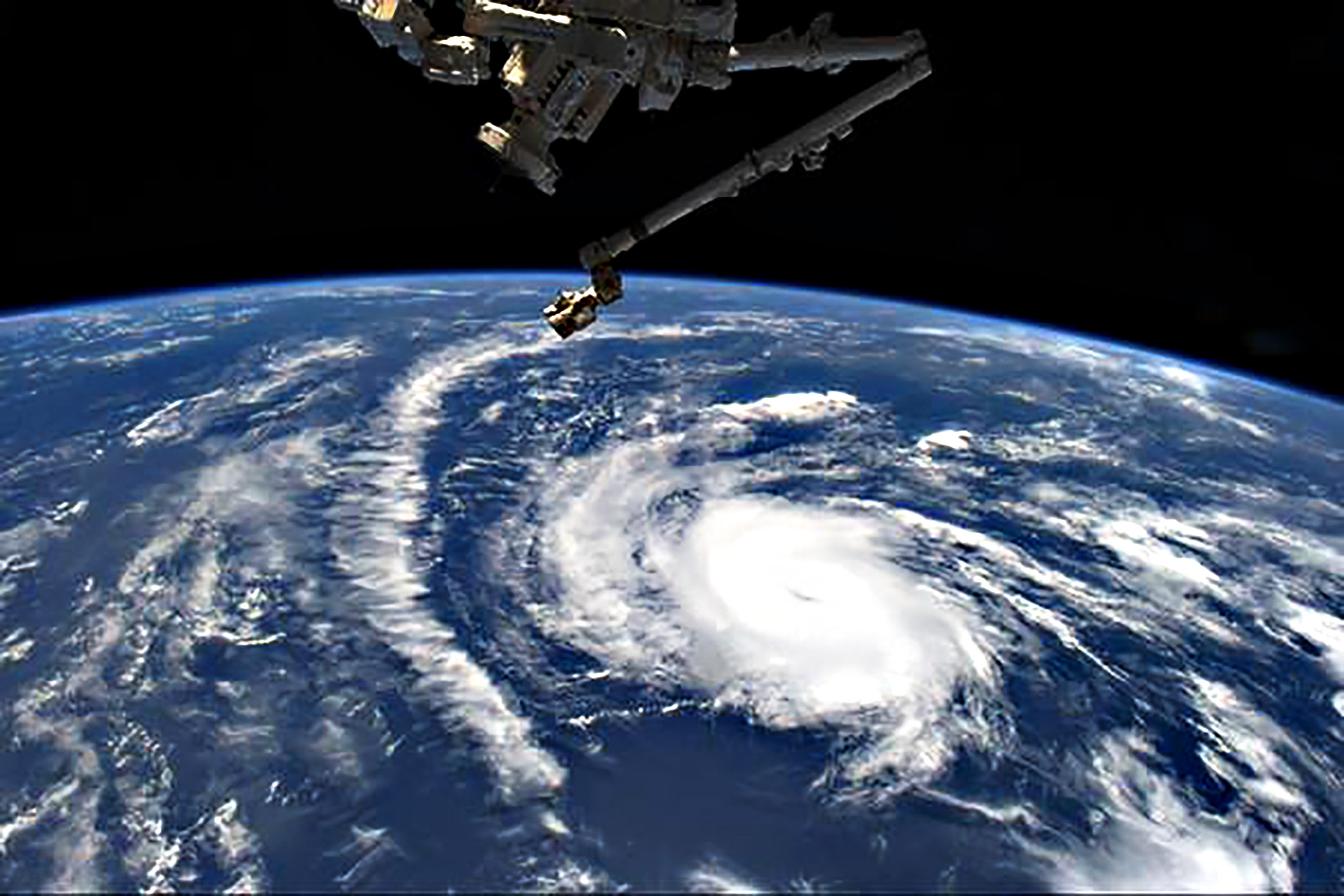 Hurricane Danny, the first hurricane of the 2015 Atlantic season, is seen in this picture by NASA astronaut Scott Kelly taken from the International Space Station August 20, 2015.