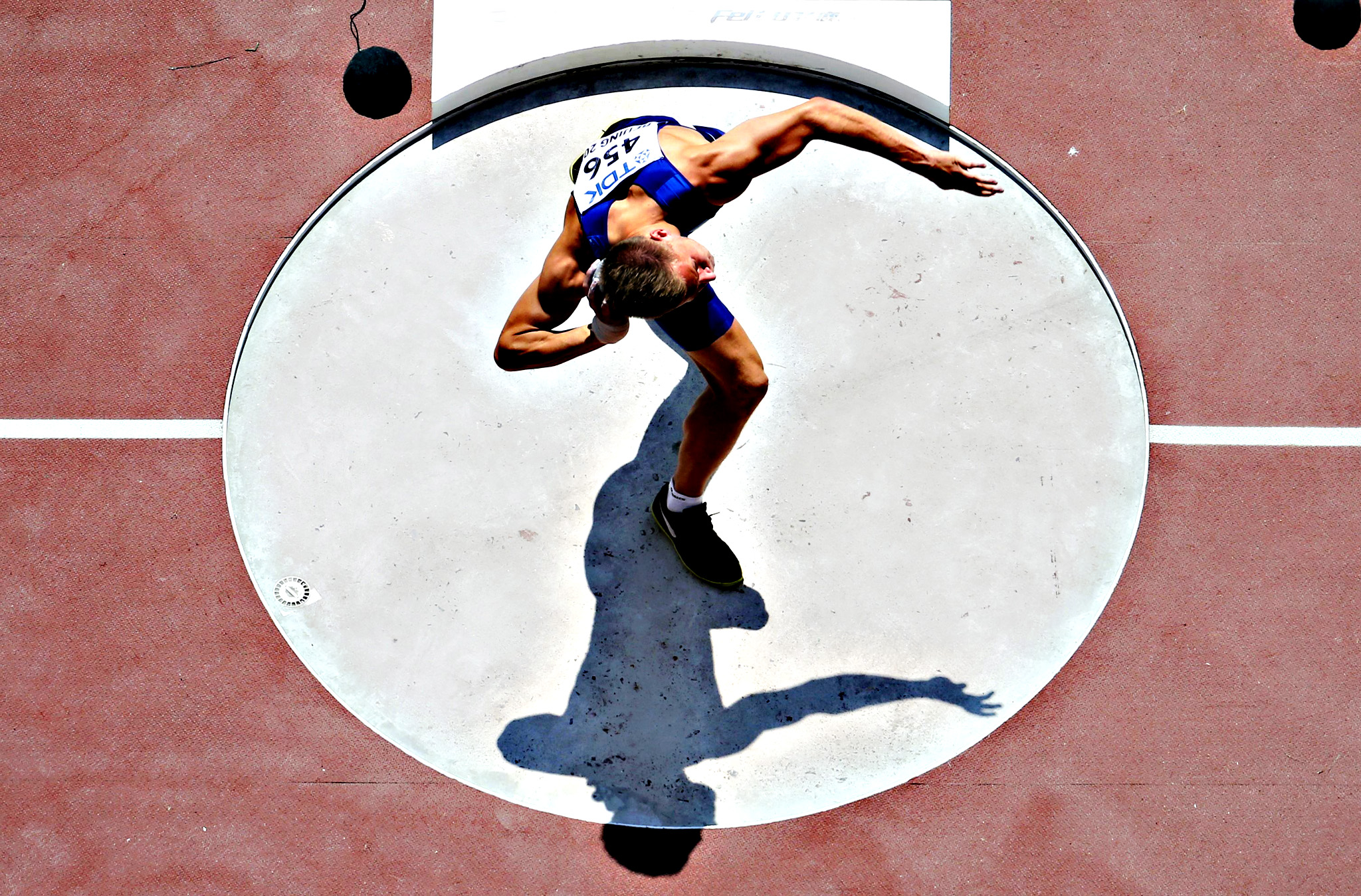 Janek Oiglane of Estonia competes in the men's decathlon shot put event during the 15th IAAF World Championships at the National Stadium in Beijing, China August 28, 2015.