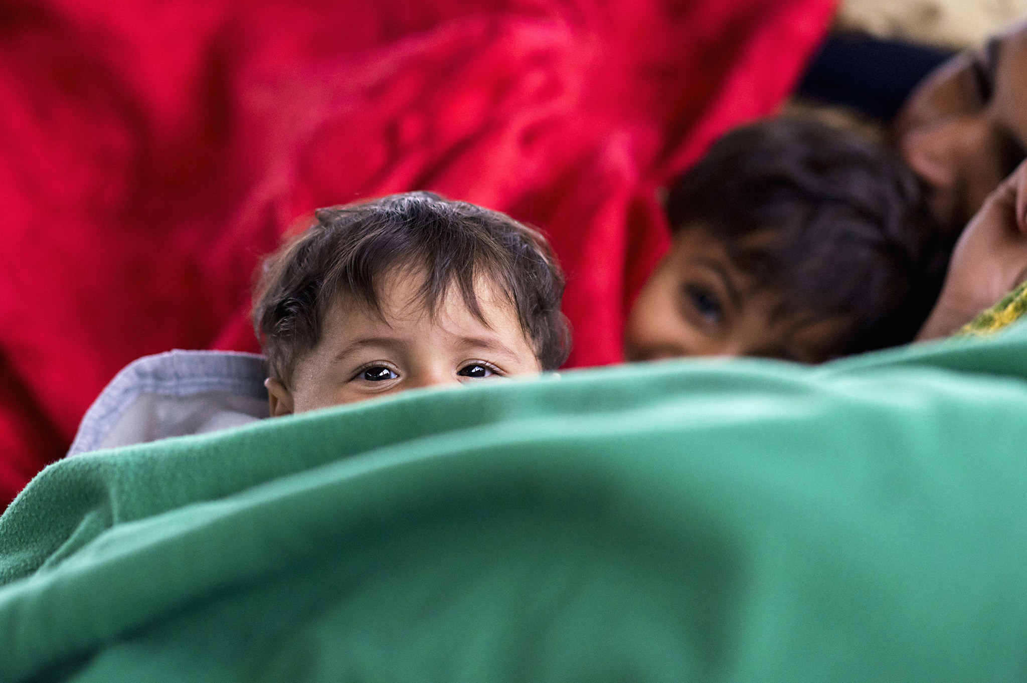 Migrant families rest at the former truc...Migrant families rest at the former truck custom station on the Austrian side of the border between Hungary and Austria on September 11, 2015 near Nickelsdorf, Austria. Over eight thousand migrants passed through this location the day before and the same number is expected for today. AFP PHOTO/JOE KLAMARJOE KLAMAR/AFP/Getty Images