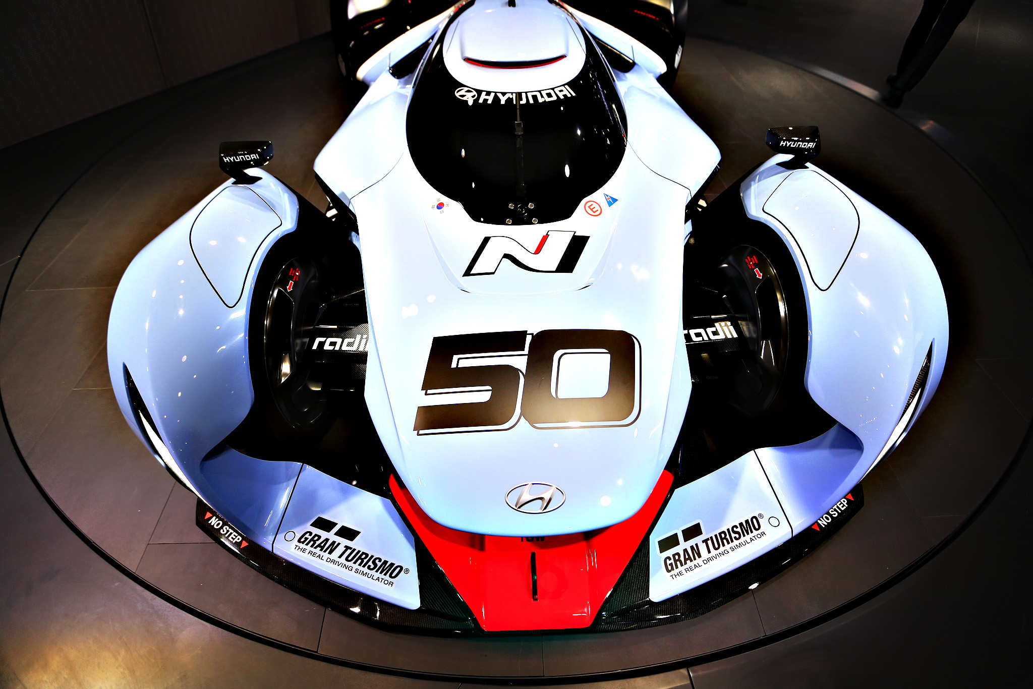 A Hyundai N 50 Gran Turismo concept automobile, produced by Hyundai Motor Co., sits on display at the IAA Frankfurt Motor Show in Frankfurt, Germany, on Tuesday, Sept. 15, 2015. The Frankfurt International Motor Show starts on Thursday, and nearly one million visitors are expected to view the latest must-have vehicles and motoring technology from over 1,000 exhibitors in a space equivalent to 33 soccer fields