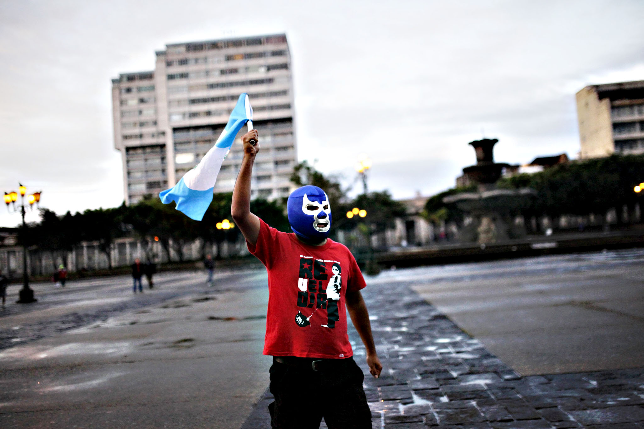 A man reacts to the resignation of President Otto Perez in Guatemala City, Guatemala September 3, 2015. Perez has resigned, his spokesman said on Thursday, hours before he is due to appear in court over a corruption scandal that has gutted his government and plunged the country into chaos days before a national election