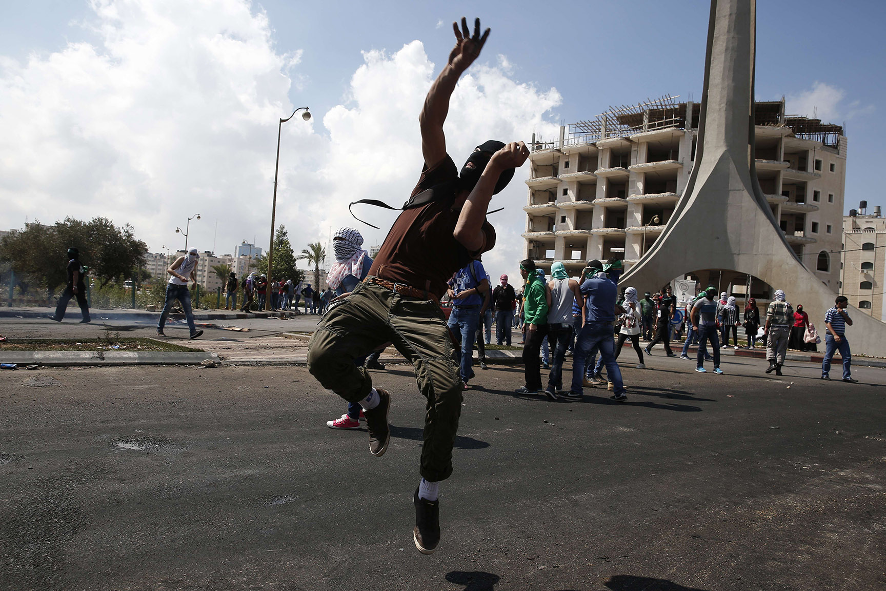 Palestinian stone throwers