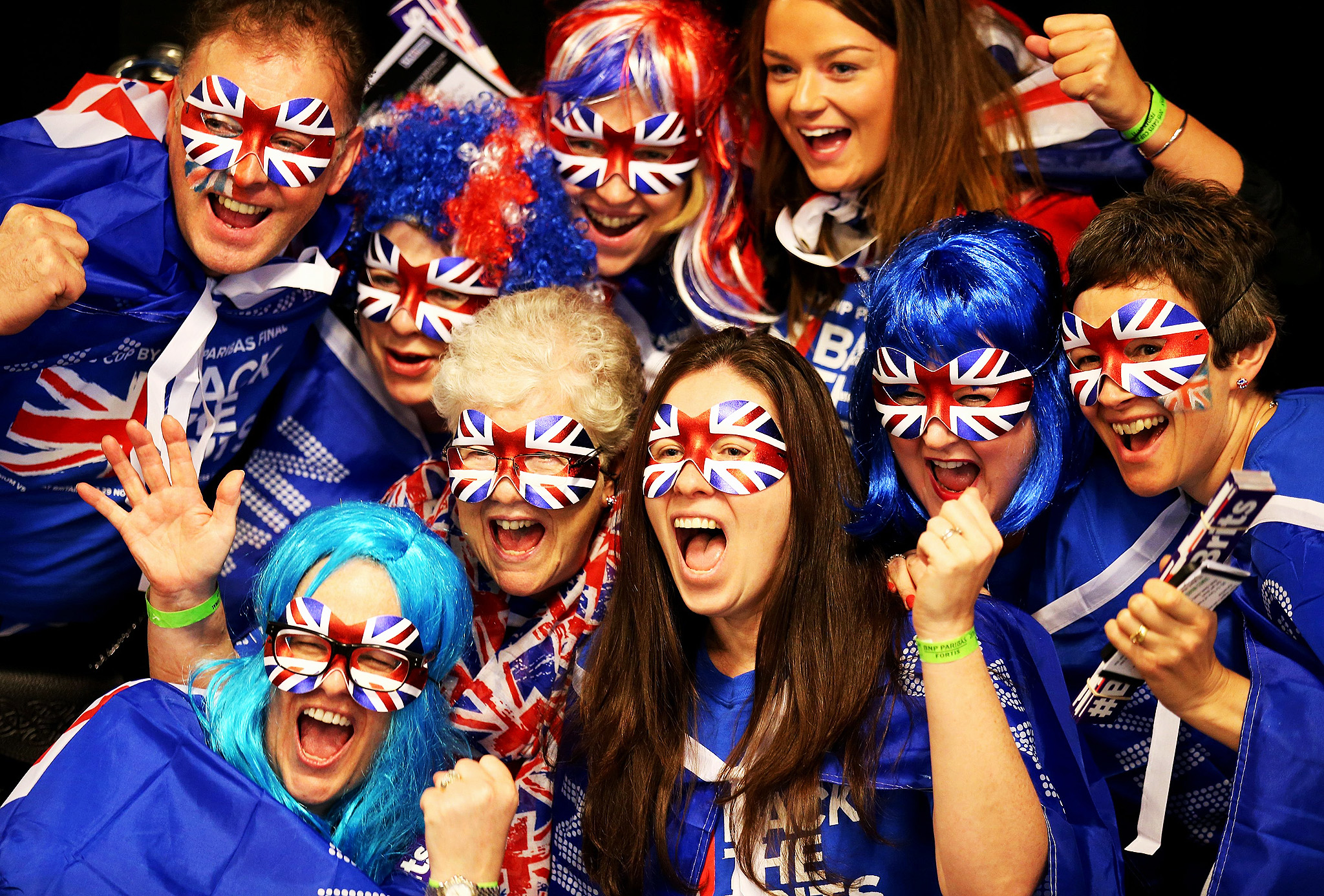 Fans of Great Britain show their support during day one of the Davis Cup Final at the Flanders Expo Centre, Ghent. PRESS ASSOCIATION Photo. Picture date: Friday November 27, 2015.