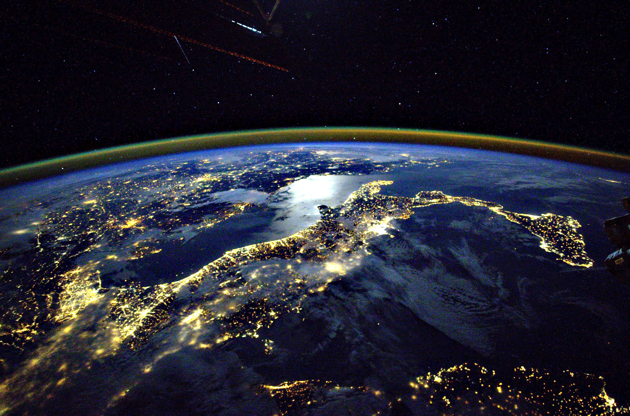 A view of Earth seen from the International Space Station (ISS) taken by current ISS crew member, Russian cosmonaut Mikhail Korniyenko