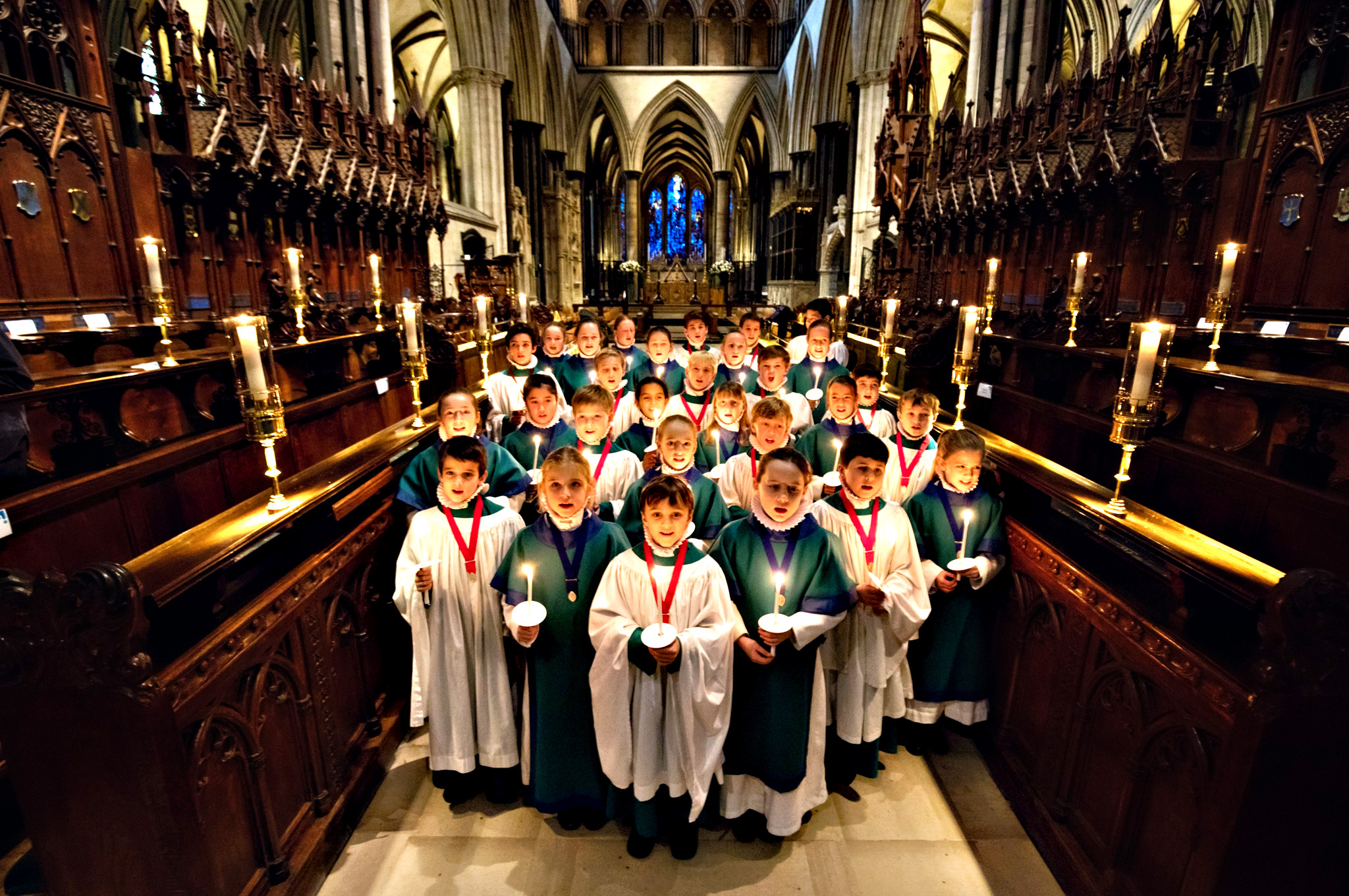 Choristers from the Salisbury Cathedral Choir practice ahead of the services that will be held in the cathedral marking Christmas Eve on Monday in Salisbury, England. Christmas has been celebrated in the cathedral for over 750 years since it was dedicated in 1258. It is thought that the foundation of the choir stretches back even further, with evidence of a song school in Salisbury as early as the 11th century.