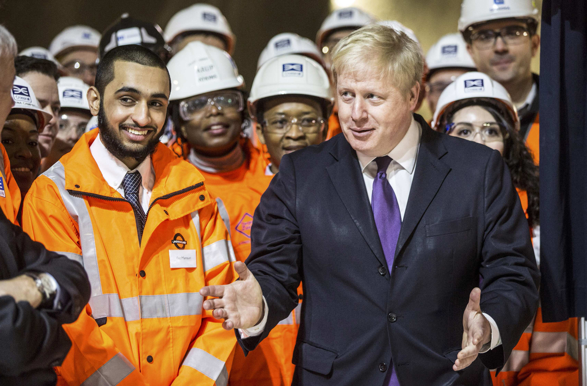 London mayor Boris Johnson attends Britain's Queen Elizabeth formal unveiling of the new logo for Crossrail, which is to be named the Elizabeth line, at the construction site of the Bond Street station in central London...London mayor Boris Johnson attends Britain's Queen Elizabeth formal unveiling of the new logo for Crossrail, which is to be named the Elizabeth line, at the construction site of the Bond Street station in central London, February 23, 2016.   REUTERS/Richard Pohle/Pool