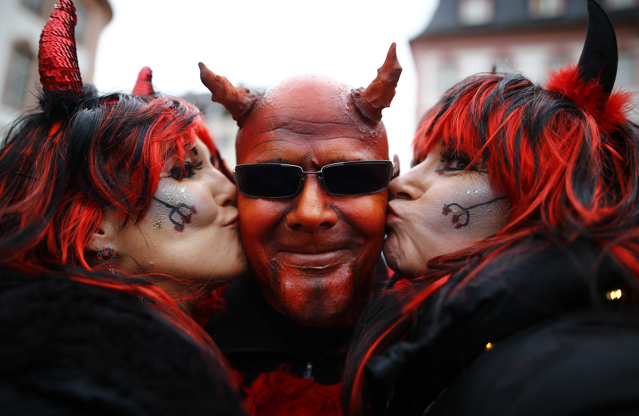 "Revellers take part in the traditional ""Weiberfastnacht"" (Women's Carnival) celebration in Mainz, Germany"