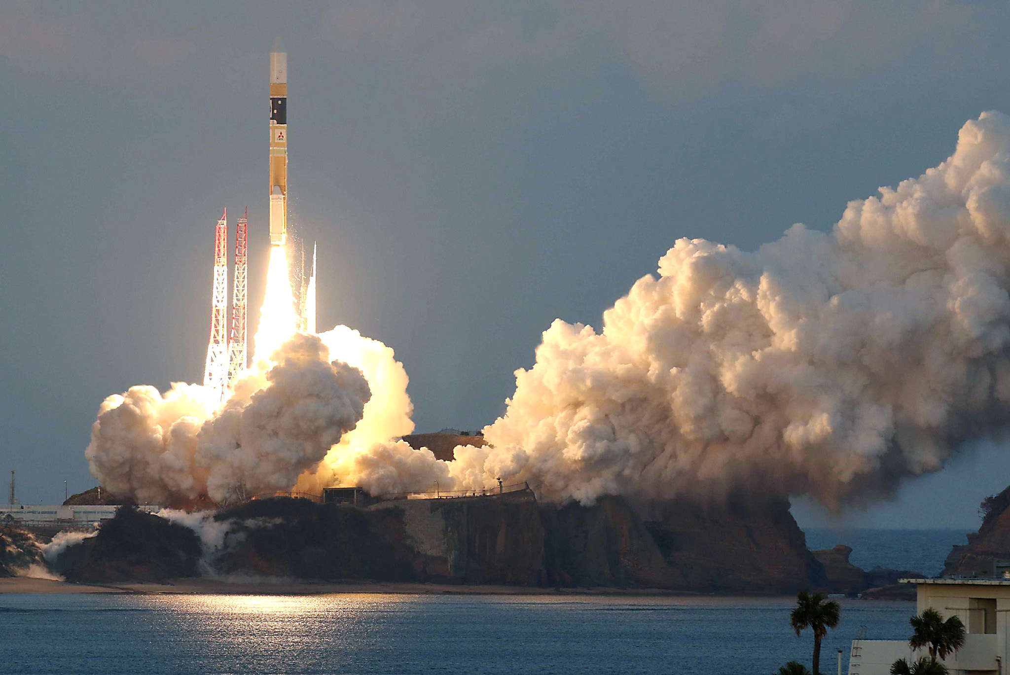 An H-2A rocket carrying the ASTRO-H sate...An H-2A rocket carrying the ASTRO-H satellite, developed in collaboration between the Japan Aerospace Exploration Agency (JAXA), NASA and other groups, lifts off at the Tanegashima Space Center in Kagoshima Prefecture, southwestern Japan on February 17, 2016. Japan successfully launched a jointly developed space observation satellite on February 17 tasked with studying mysterious black holes, the country's space agency said.
